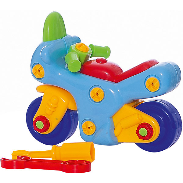 Конструктор Мотоцикл (с отверткой и ключом), KriblyBooПластмассовые конструкторы<br>Конструктор Мотоцикл (с отверткой и ключом), KriblyBoo (Крибли Бу).<br><br><br>Характеристики:<br><br>• яркие цвета<br>• безопасен для ребенка<br>• материал: пластик<br>• размер упаковки: 7х13х16 см<br>• вес: 260 грамм<br><br>Конструктор Мотоцикл станет прекрасным подарком начинающим строителям. В процессе игры ребенку предстоит собрать (или даже разобрать) красочный мотоцикл с помощью отвертки и ключа. Такая игра хорошо развивает усидчивость и мелкую моторику. Маленький механик с гордостью похвастается собранным мотоциклом!<br><br>Конструктор Мотоцикл (с отверткой и ключом), KriblyBoo (Крибли Бу) вы можете купить в нашем интернет-магазине.<br>Ширина мм: 160; Глубина мм: 130; Высота мм: 70; Вес г: 260; Возраст от месяцев: 36; Возраст до месяцев: 120; Пол: Мужской; Возраст: Детский; SKU: 5017665;