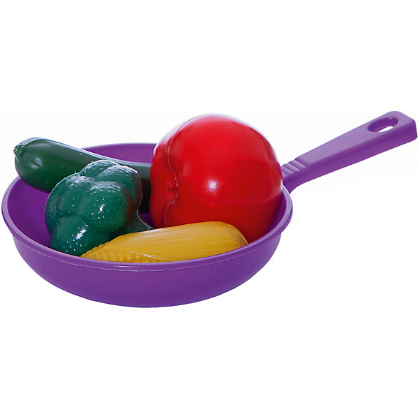 Набор Сковородка с набором овощей, EstaBellaИгрушечные продукты питания<br>Набор Сковородка с набором овощей, EstaBella (Эстабелла).<br><br>Характеристики:<br><br>• все предметы очень реалистичны<br>• набор безопасен для ребенка<br>• в комплекте: сковорода, овощи<br>• материал: пластик<br>• размер упаковки: 14х6х21 см<br>• вес: 110 грамм<br><br>Сковорода с набором овощей станет замечательным подарком для маленьких помощниц. Все предметы очень похожи на настоящие, что придает игре большую реалистичность. В набор входят несколько предметов, которые девочка сможет использовать по своему усмотрению: приготовить на сковороде или даже угостить гостей целыми овощами. Этот набор по достоинству оценит каждая хозяюшка!<br><br>Набор Сковородка с набором овощей, EstaBella (Эстабелла) вы можете купить в нашем интернет-магазине.<br>Ширина мм: 210; Глубина мм: 60; Высота мм: 140; Вес г: 110; Возраст от месяцев: 36; Возраст до месяцев: 120; Пол: Женский; Возраст: Детский; SKU: 5017673;