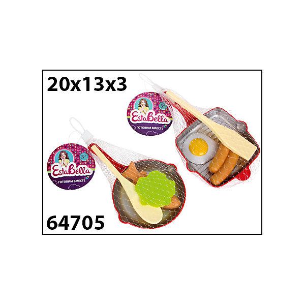 Набор Сковородка с продуктами и лопаткой 2, EstaBellaИгрушечные продукты питания<br>Набор Сковородка с продуктами и лопаткой 2, EstaBella (Эстабелла).<br><br>Характеристики:<br><br>• все предметы очень реалистичны<br>• набор безопасен для ребенка<br>• в комплекте: сковорода, лопатка, муляжи продуктов<br>• материал: пластик<br>• размер упаковки: 13х3х20 см<br>• вес: 290 грамм<br><br>Сковородка с продуктами и лопаткой научит девочку готовить вкусную еду для своих игрушек. Все продукты очень реалистичны, благодаря чему процесс готовки будет очень похож на настоящий. Лопатка поможет ребенку переворачивать или перемешивать еду. С этим набором ребенок почувствует себя настоящим шеф-поваром!<br><br>Набор Сковородка с продуктами и лопаткой 2, EstaBella (Эстабелла) вы можете купить в нашем интернет-магазине.<br>Ширина мм: 200; Глубина мм: 30; Высота мм: 130; Вес г: 290; Возраст от месяцев: 36; Возраст до месяцев: 120; Пол: Женский; Возраст: Детский; SKU: 5017675;