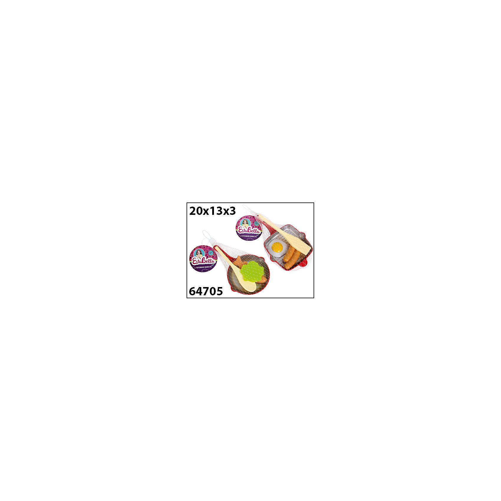 Набор Сковородка с продуктами и лопаткой 2, EstaBellaНабор Сковородка с продуктами и лопаткой 2, EstaBella (Эстабелла).<br><br>Характеристики:<br><br>• все предметы очень реалистичны<br>• набор безопасен для ребенка<br>• в комплекте: сковорода, лопатка, муляжи продуктов<br>• материал: пластик<br>• размер упаковки: 13х3х20 см<br>• вес: 290 грамм<br><br>Сковородка с продуктами и лопаткой научит девочку готовить вкусную еду для своих игрушек. Все продукты очень реалистичны, благодаря чему процесс готовки будет очень похож на настоящий. Лопатка поможет ребенку переворачивать или перемешивать еду. С этим набором ребенок почувствует себя настоящим шеф-поваром!<br><br>Набор Сковородка с продуктами и лопаткой 2, EstaBella (Эстабелла) вы можете купить в нашем интернет-магазине.<br><br>Ширина мм: 200<br>Глубина мм: 30<br>Высота мм: 130<br>Вес г: 290<br>Возраст от месяцев: 36<br>Возраст до месяцев: 120<br>Пол: Женский<br>Возраст: Детский<br>SKU: 5017675
