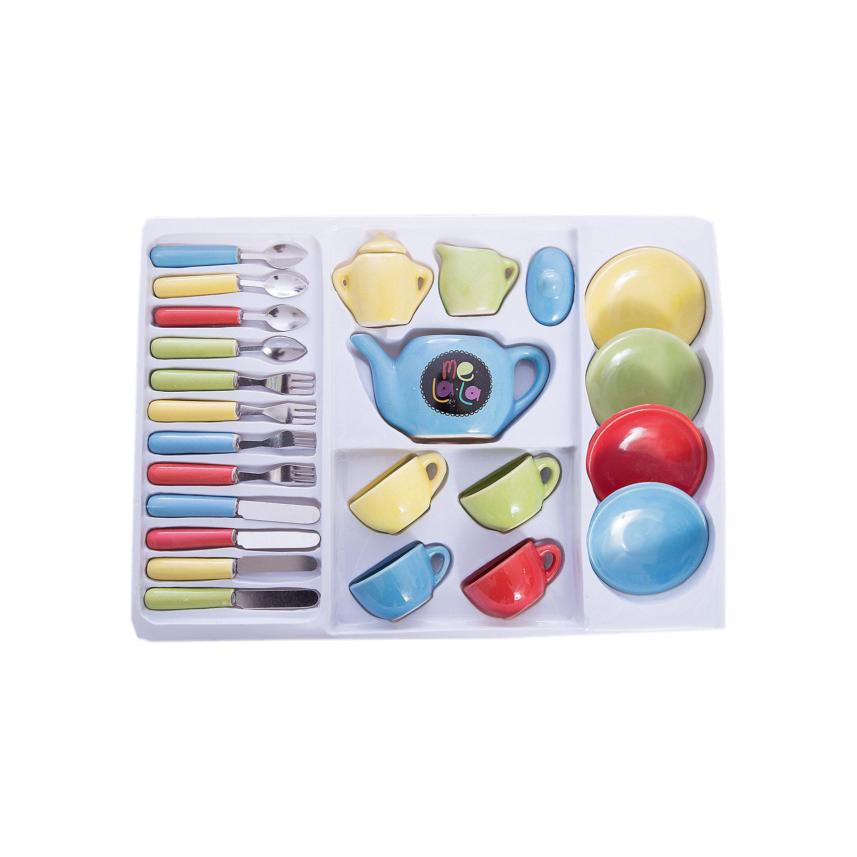 Набор керамической посудки MeLaLa  Званый ужин , MeLaLaНабор керамической посудки MeLaLa Званый ужин, MeLaLa.<br><br>Характеристики:<br><br>• содержит всё необходимое для чаепития<br>• реалистичные предметы<br>• рассчитан на 4 персоны<br>• в комплекте: 4 кружки, 4 тарелки, 4 ложки, 4 вилки, 4 ножа, чайник, крышечка для чайника, молочник, сахарница, крышечка для сахарницы<br>• материал: керамика, металл, пластик<br>• размер упаковки: 23х5,5х32,5 см<br>• вес: 204,5 грамма<br><br>Званый ужин - восхитительный набор для кукольного чаепития. Он содержит 25 самых необходимых предметов для званого ужина на четыре персоны. Ребенок сможет предложить своим игрушкам вкусный чай, молоко, ужин и даже десерт. Все предметы очень похожи на настоящие, и девочка почувствует себя настоящей хозяйкой, принимающей гостей!<br><br>Набор керамической посудки MeLaLa Званый ужин , MeLaLa вы можете купить в нашем интернет-магазине.<br><br>Ширина мм: 325<br>Глубина мм: 55<br>Высота мм: 230<br>Вес г: 204<br>Возраст от месяцев: 36<br>Возраст до месяцев: 120<br>Пол: Женский<br>Возраст: Детский<br>SKU: 5017677