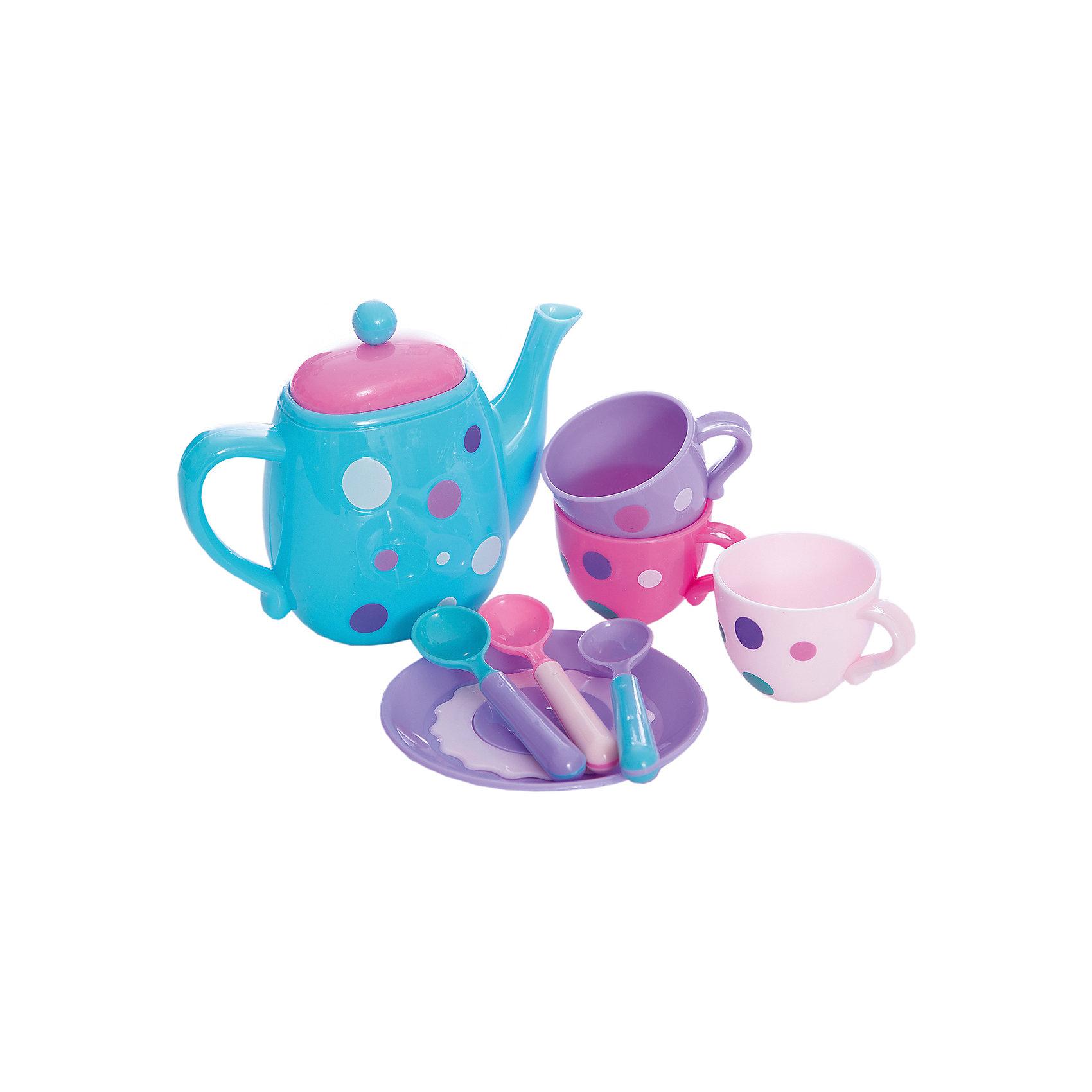 Набор посудки Время для чая, MeLaLaНабор посудки Время для чая, MeLaLa.<br><br>Характеристики:<br><br>• приятный дизайн<br>• набор полностью безопасен для ребенка<br>• материал: пластик <br>• в комплекте: 3 кружки, блюдце, 3 ложечки, чайник<br>• размер упаковки: 20х6х28 см<br>• вес: 230 грамм<br><br>Время для чая - восхитительный набор игрушечной посуды. Девочка сможет угостить игрушки чаем и печеньем. Настоящий десерт можно положить на тарелку и предложить девочке угостить подружек. Вся посуда, входящая в комплект, изготовлена из безопасного пластика и имеет приятный дизайн. Эта посуда отлично подойдет для веселого чаепития!<br><br>Набор посудки Время для чая, MeLaLa можно купить в нашем интернет-магазине.<br><br>Ширина мм: 280<br>Глубина мм: 60<br>Высота мм: 200<br>Вес г: 230<br>Возраст от месяцев: 36<br>Возраст до месяцев: 120<br>Пол: Женский<br>Возраст: Детский<br>SKU: 5017679
