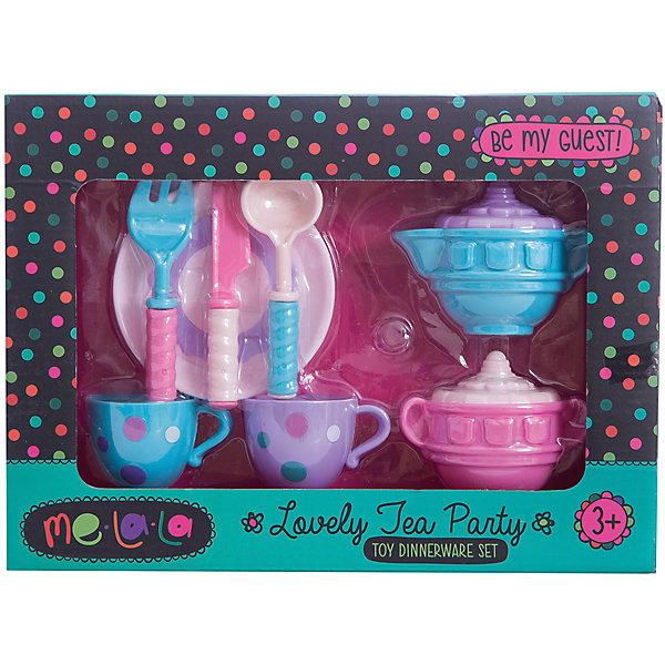Набор посудки За чашкой чая, MeLaLaДетские кухни<br>Набор посудки За чашкой чая, MeLaLa.<br><br>Характеристики:<br><br>• приятный дизайн<br>• набор полностью безопасен для ребенка<br>• материал: пластик <br>• в комплекте: 2 кружки, молочник, сахарница, тарелка, ложка, вилка, нож<br>• размер упаковки: 20х6х28 см<br>• вес: 190 грамм<br><br>Набор За чашкой чая поможет девочке устроить светский прием для своих игрушек. В набор входит всё самое необходимое для чаепития. Молочник и сахарница имеют красивый рельефный узор. Чашечки украшены рисунком в горох. Вся посуда полностью безопасна для ребенка. С таким набором девочка с радостью научится устраивать званый ужин!<br><br>Вы можете купить набор посудки За чашкой чая, MeLaLa в нашем интернет-магазине.<br>Ширина мм: 280; Глубина мм: 60; Высота мм: 200; Вес г: 190; Возраст от месяцев: 36; Возраст до месяцев: 120; Пол: Женский; Возраст: Детский; SKU: 5017680;