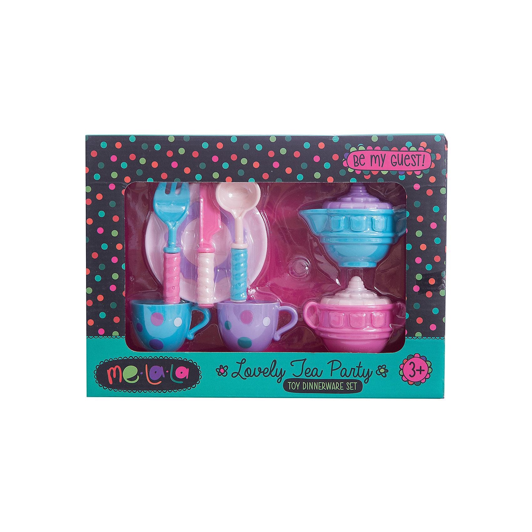 Набор посудки За чашкой чая, MeLaLaПосуда и аксессуары для детской кухни<br>Набор посудки За чашкой чая, MeLaLa.<br><br>Характеристики:<br><br>• приятный дизайн<br>• набор полностью безопасен для ребенка<br>• материал: пластик <br>• в комплекте: 2 кружки, молочник, сахарница, тарелка, ложка, вилка, нож<br>• размер упаковки: 20х6х28 см<br>• вес: 190 грамм<br><br>Набор За чашкой чая поможет девочке устроить светский прием для своих игрушек. В набор входит всё самое необходимое для чаепития. Молочник и сахарница имеют красивый рельефный узор. Чашечки украшены рисунком в горох. Вся посуда полностью безопасна для ребенка. С таким набором девочка с радостью научится устраивать званый ужин!<br><br>Вы можете купить набор посудки За чашкой чая, MeLaLa в нашем интернет-магазине.<br><br>Ширина мм: 280<br>Глубина мм: 60<br>Высота мм: 200<br>Вес г: 190<br>Возраст от месяцев: 36<br>Возраст до месяцев: 120<br>Пол: Женский<br>Возраст: Детский<br>SKU: 5017680