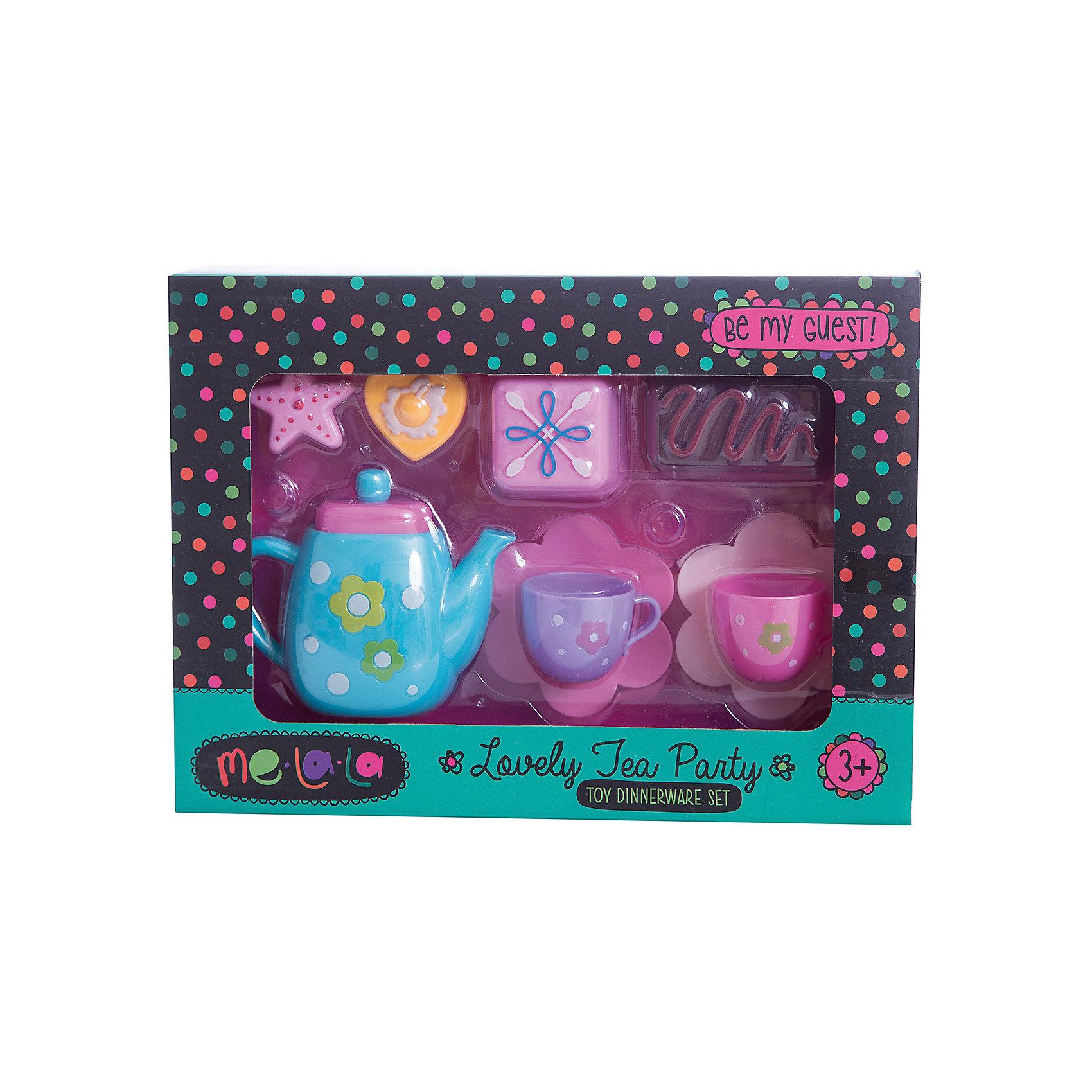 Набор посудки Чаепитие со сладостями, MeLaLaПосуда и аксессуары для детской кухни<br>Набор посудки Чаепитие со сладостями, MeLaLa.<br><br>Характеристики:<br><br>• яркий дизайн<br>• набор полностью безопасен для ребенка<br>• материал: пластик <br>• в комплекте: 2 кружки, 2 блюдца, чайник, 4 десерта<br>• размер упаковки: 20х6х28 см<br>• вес: 210 грамм<br><br>Наверное каждая девочка любит провести время за чашечкой чая со вкусным десертом. С помощью набора Чаепитие со сладостями девочка сможет устроить чаепитие с любимой куклой. В набор входит красочная посуда и очень привлекательные десерты. Все предметы изготовлены из нетоксичного пластика, безопасного для ребенка. С таким набором кукольные чаепития станут еще интереснее!<br><br>Набор посудки Чаепитие со сладостями, MeLaLa вы можете купить в нашем интернет-магазине.<br><br>Ширина мм: 280<br>Глубина мм: 60<br>Высота мм: 200<br>Вес г: 210<br>Возраст от месяцев: 36<br>Возраст до месяцев: 120<br>Пол: Женский<br>Возраст: Детский<br>SKU: 5017681