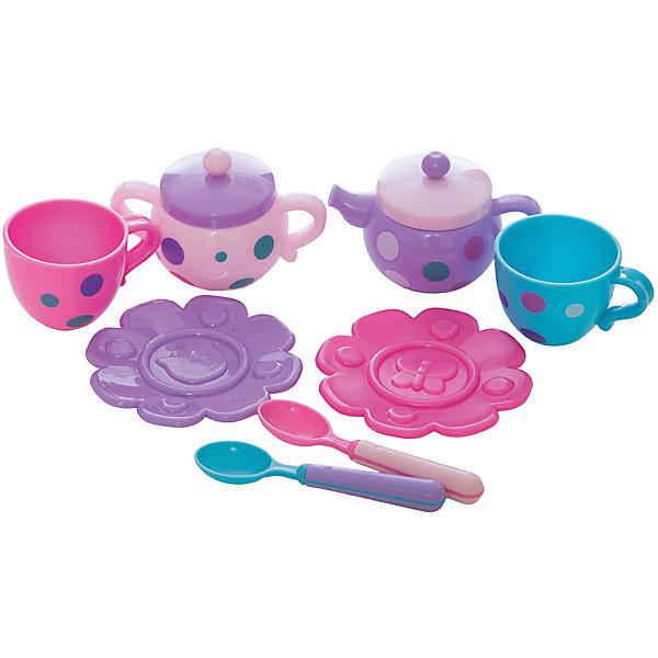 Набор посудки Чудесное чаепитие , MeLaLaДетские кухни<br>Набор посудки Чудесное чаепитие, MeLaLa.<br><br>Характеристики:<br><br>• яркий дизайн<br>• набор полностью безопасен для ребенка<br>• материал: пластик <br>• в комплекте: 2 чашки, 2 блюдца, 2 ложки, чайник, сахарница<br>• размер упаковки: 20х6х28 см<br>• вес: 210 грамм<br><br>Чудесное чаепитие - набор, который содержит всё, что необходимо для душевного вечера в компании любимых игрушек. С помощью этого набора девочка научится устраивать настоящие светские вечера. Блюдечки в виде цветом добавят уюта в атмосферу игры. А приятный дизайн посуды всегда будет радовать глаз!<br><br>Набор посудки Чудесное чаепитие, MeLaLa вы можете купить в нашем интернет-магазине.<br>Ширина мм: 280; Глубина мм: 60; Высота мм: 200; Вес г: 210; Возраст от месяцев: 36; Возраст до месяцев: 120; Пол: Женский; Возраст: Детский; SKU: 5017682;