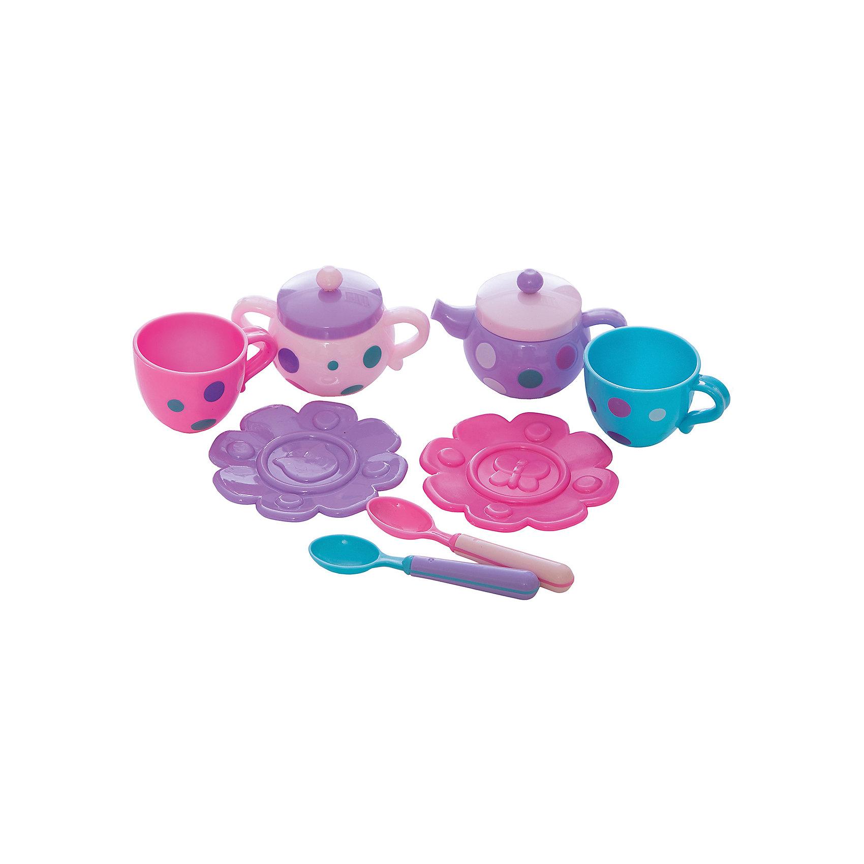 Набор посудки Чудесное чаепитие , MeLaLaПосуда и аксессуары для детской кухни<br>Набор посудки Чудесное чаепитие, MeLaLa.<br><br>Характеристики:<br><br>• яркий дизайн<br>• набор полностью безопасен для ребенка<br>• материал: пластик <br>• в комплекте: 2 чашки, 2 блюдца, 2 ложки, чайник, сахарница<br>• размер упаковки: 20х6х28 см<br>• вес: 210 грамм<br><br>Чудесное чаепитие - набор, который содержит всё, что необходимо для душевного вечера в компании любимых игрушек. С помощью этого набора девочка научится устраивать настоящие светские вечера. Блюдечки в виде цветом добавят уюта в атмосферу игры. А приятный дизайн посуды всегда будет радовать глаз!<br><br>Набор посудки Чудесное чаепитие, MeLaLa вы можете купить в нашем интернет-магазине.<br><br>Ширина мм: 280<br>Глубина мм: 60<br>Высота мм: 200<br>Вес г: 210<br>Возраст от месяцев: 36<br>Возраст до месяцев: 120<br>Пол: Женский<br>Возраст: Детский<br>SKU: 5017682