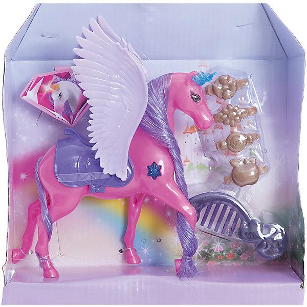 Набор  Страна волшебных друзей: лошадка с крыльями, EstaBellaИдеи подарков<br>Набор Страна волшебных друзей: лошадка с крыльями, EstaBella (Эстабелла).<br><br>Характеристики:<br><br>• яркий дизайн<br>• выполнена из нетоксичных материалов<br>• в комплекте: лошадка, аксессуары<br>• материал: пластик, текстиль<br>• размер упаковки: 22х6х25 см<br>• вес: 170 грамм<br><br>Лошадка EstaBella подарит девочке море положительных эмоций. Яркую лошадка имеет огромные крылья и длинную гриву, которую можно расчесывать. Кроме того, лошадка имеет уютное седло, в котором можно прокатить любимую куклу. Эта лошадка откроет двери в сказочный мир волшебства и фантазии!<br><br>Набор Страна волшебных друзей: лошадка с крыльями, EstaBella (Эстабелла) вы можете купить в нашем интернет-магазине.<br>Ширина мм: 250; Глубина мм: 60; Высота мм: 220; Вес г: 170; Возраст от месяцев: 36; Возраст до месяцев: 120; Пол: Женский; Возраст: Детский; SKU: 5017686;