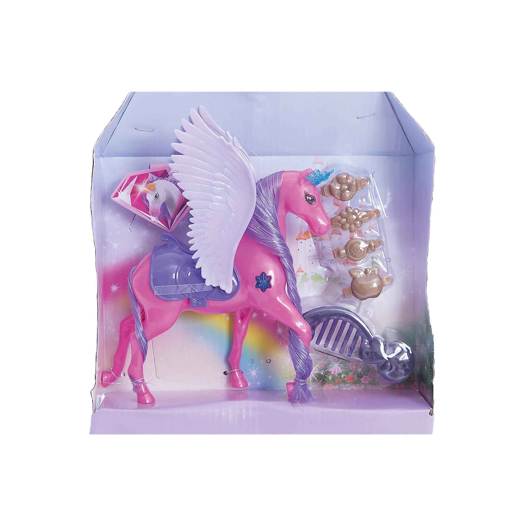 Набор  Страна волшебных друзей: лошадка с крыльями, EstaBellaМир животных<br>Набор Страна волшебных друзей: лошадка с крыльями, EstaBella (Эстабелла).<br><br>Характеристики:<br><br>• яркий дизайн<br>• выполнена из нетоксичных материалов<br>• в комплекте: лошадка, аксессуары<br>• материал: пластик, текстиль<br>• размер упаковки: 22х6х25 см<br>• вес: 170 грамм<br><br>Лошадка EstaBella подарит девочке море положительных эмоций. Яркую лошадка имеет огромные крылья и длинную гриву, которую можно расчесывать. Кроме того, лошадка имеет уютное седло, в котором можно прокатить любимую куклу. Эта лошадка откроет двери в сказочный мир волшебства и фантазии!<br><br>Набор Страна волшебных друзей: лошадка с крыльями, EstaBella (Эстабелла) вы можете купить в нашем интернет-магазине.<br><br>Ширина мм: 250<br>Глубина мм: 60<br>Высота мм: 220<br>Вес г: 170<br>Возраст от месяцев: 36<br>Возраст до месяцев: 120<br>Пол: Женский<br>Возраст: Детский<br>SKU: 5017686
