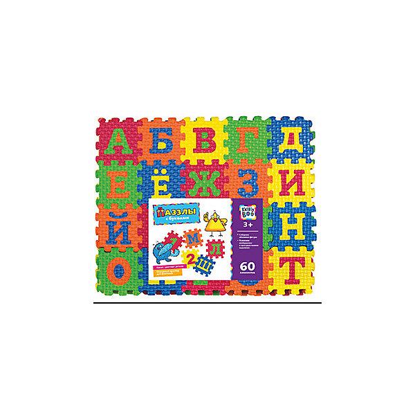 Пазлы с буквами, 60 элементов, KriblyBooПазлы для малышей<br>Пазлы с буквами, 60 элементов, KriblyBoo (Крибли Бу).<br><br>Характеристики:<br><br>• поможет выучить буквы<br>• ребенок сможет сам собрать пазлы<br>• яркий дизайн<br>• количество элементов: 60<br>• материал: ЭВА<br>• размер упаковки: 22х6х25 см<br>• вес: 200 грамм<br><br>Пазлы Крибли Бу содержит 60 ярких объемных деталей, с помощью которых ребенок сможет научиться собирать пазлы, фигуры, а также выучит буквы и цвета. Все элементы имеют одинаковый размер, что особенно удобно при создании фигур. Готовый пазл можно использовать как удобный коврик. Игра хорошо развивает пространственное мышление и фантазию. С этими пазлами ваш ребенок быстро выучит буквы и цвета!<br><br>Пазлы с буквами, 60 элементов, KriblyBoo (Крибли Бу) вы можете купить в нашем интернет-магазине.<br><br>Ширина мм: 250<br>Глубина мм: 60<br>Высота мм: 220<br>Вес г: 200<br>Возраст от месяцев: 36<br>Возраст до месяцев: 120<br>Пол: Унисекс<br>Возраст: Детский<br>SKU: 5017687