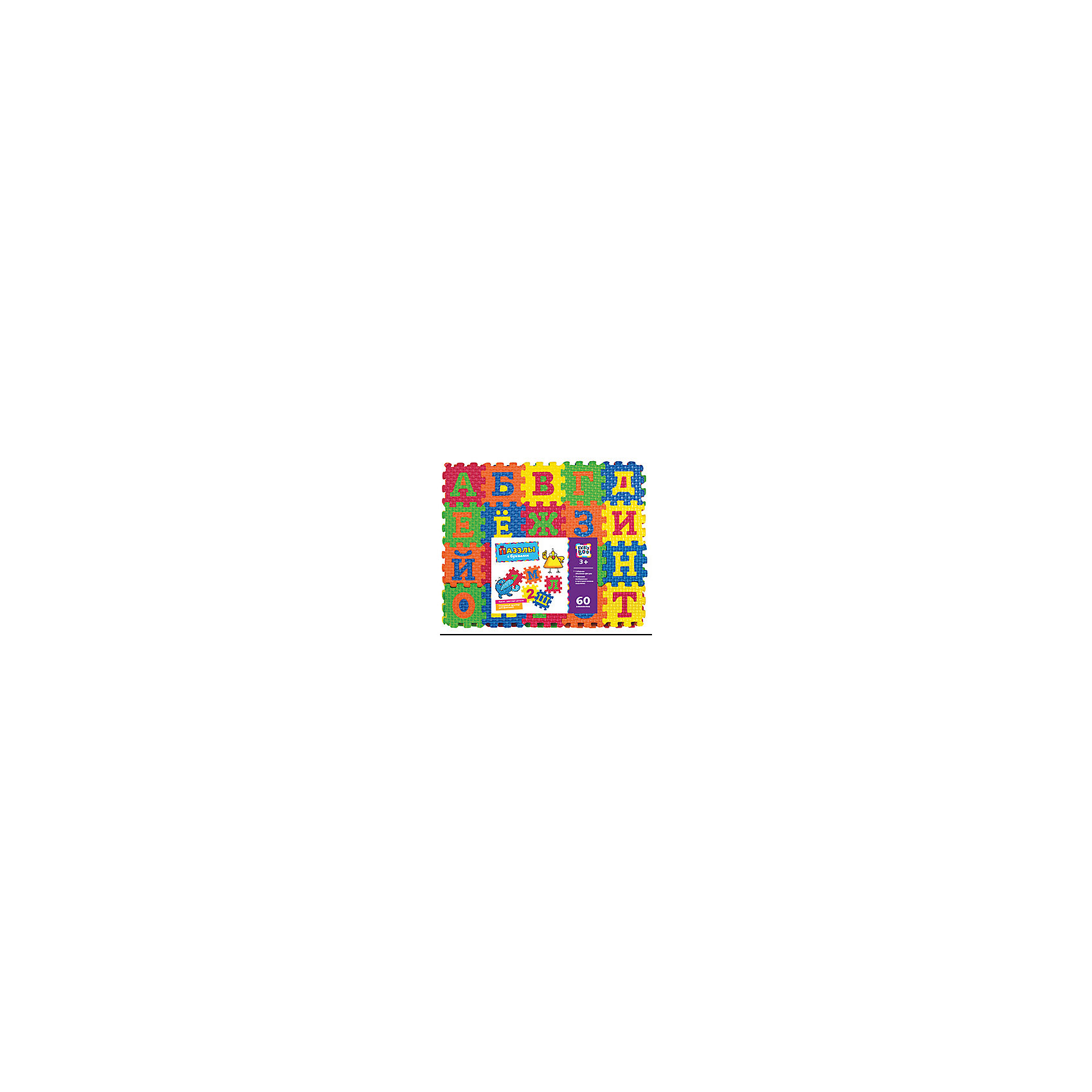 Пазлы с буквами, 60 элементов, KriblyBooПазлы с буквами, 60 элементов, KriblyBoo (Крибли Бу).<br><br>Характеристики:<br><br>• поможет выучить буквы<br>• ребенок сможет сам собрать пазлы<br>• яркий дизайн<br>• количество элементов: 60<br>• материал: ЭВА<br>• размер упаковки: 22х6х25 см<br>• вес: 200 грамм<br><br>Пазлы Крибли Бу содержит 60 ярких объемных деталей, с помощью которых ребенок сможет научиться собирать пазлы, фигуры, а также выучит буквы и цвета. Все элементы имеют одинаковый размер, что особенно удобно при создании фигур. Готовый пазл можно использовать как удобный коврик. Игра хорошо развивает пространственное мышление и фантазию. С этими пазлами ваш ребенок быстро выучит буквы и цвета!<br><br>Пазлы с буквами, 60 элементов, KriblyBoo (Крибли Бу) вы можете купить в нашем интернет-магазине.<br><br>Ширина мм: 250<br>Глубина мм: 60<br>Высота мм: 220<br>Вес г: 200<br>Возраст от месяцев: 36<br>Возраст до месяцев: 120<br>Пол: Унисекс<br>Возраст: Детский<br>SKU: 5017687