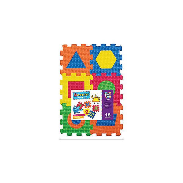 Пазлы с фигурами, 18 элементов, KriblyBooКоврики-пазлы<br>Пазлы с фигурами, 18 элементов, KriblyBoo (Крибли Бу).<br><br>Характеристики:<br><br>• поможет выучить фигуры и цвета<br>• ребенок сможет сам собрать пазлы<br>• яркий дизайн<br>• количество элементов: 18<br>• размер одного пазла: 7х7 см<br>• материал: ПВХ<br>• размер упаковки: 22х6х25 см<br>• вес: 200 грамм<br><br>Яркие пазлы Крибли Бу помогут вам научить ребенка распознавать геометрические фигуры и цвета. Набор состоит из 18 пазлов одинакового размера. Каждый пазл содержит вкладыш с геометрической фигурой. Вы можете предложить ребенку поставить фигуры на свое место, а затем собрать пазл. Готовый пазл можно использовать в качестве коврика. С ярким пазлом ваш ребенок с радостью выучит геометрические фигуры!<br><br>Пазлы с фигурами, 18 элементов, KriblyBoo (Крибли Бу) вы можете купить в нашем интернет-магазине.<br>Ширина мм: 250; Глубина мм: 60; Высота мм: 220; Вес г: 200; Возраст от месяцев: 36; Возраст до месяцев: 120; Пол: Унисекс; Возраст: Детский; SKU: 5017688;