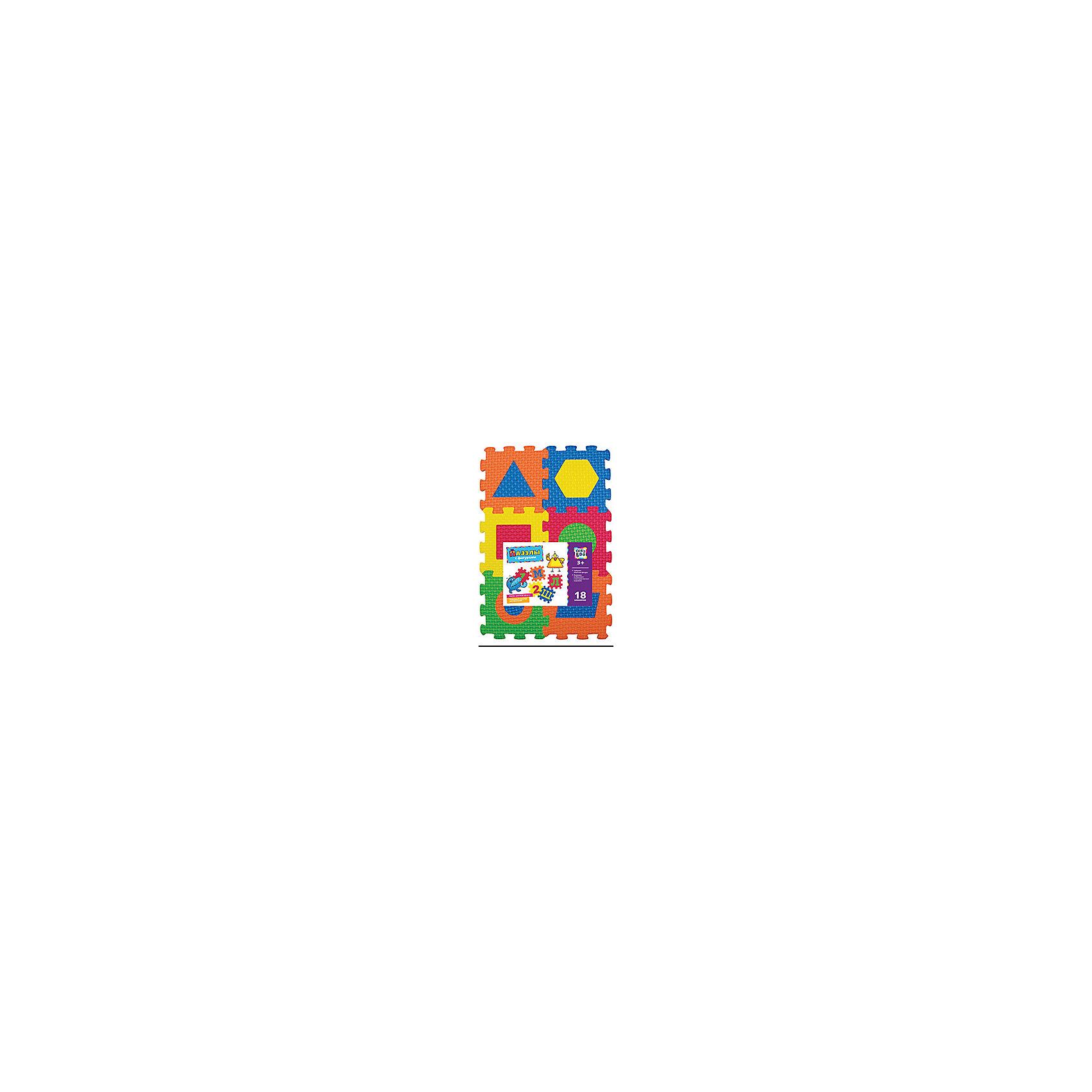 Пазлы с фигурами, 18 элементов, KriblyBooКоличество деталей<br>Пазлы с фигурами, 18 элементов, KriblyBoo (Крибли Бу).<br><br>Характеристики:<br><br>• поможет выучить фигуры и цвета<br>• ребенок сможет сам собрать пазлы<br>• яркий дизайн<br>• количество элементов: 18<br>• размер одного пазла: 7х7 см<br>• материал: ПВХ<br>• размер упаковки: 22х6х25 см<br>• вес: 200 грамм<br><br>Яркие пазлы Крибли Бу помогут вам научить ребенка распознавать геометрические фигуры и цвета. Набор состоит из 18 пазлов одинакового размера. Каждый пазл содержит вкладыш с геометрической фигурой. Вы можете предложить ребенку поставить фигуры на свое место, а затем собрать пазл. Готовый пазл можно использовать в качестве коврика. С ярким пазлом ваш ребенок с радостью выучит геометрические фигуры!<br><br>Пазлы с фигурами, 18 элементов, KriblyBoo (Крибли Бу) вы можете купить в нашем интернет-магазине.<br><br>Ширина мм: 250<br>Глубина мм: 60<br>Высота мм: 220<br>Вес г: 200<br>Возраст от месяцев: 36<br>Возраст до месяцев: 120<br>Пол: Унисекс<br>Возраст: Детский<br>SKU: 5017688