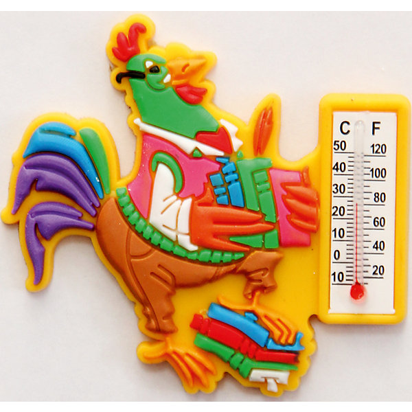 Термометр  бытовой ПЕТУШОК УЧЕНЫЙ  в декоративном корпусе (6х5,5х0,5см)Новогодние сувениры<br>Термометр жидкостный бытовой ПЕТУШОК УЧЕНЫЙ арт.42256/24 в декоративном корпусе из ПВХ на магнитном креплении из агломерированного феррита / 6х5,5х0,5см<br><br>Ширина мм: 5<br>Глубина мм: 60<br>Высота мм: 60<br>Вес г: 22<br>Возраст от месяцев: 60<br>Возраст до месяцев: 144<br>Пол: Унисекс<br>Возраст: Детский<br>SKU: 5017720