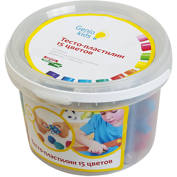 Набор для детской лепки Тесто-пластилин 15 цветовТесто для лепки<br>В наборе:  разноцветное тесто-пластилин 15 цветов по 20 гр., формочки – 5 шт., стек-ножик – 1 шт.<br><br>Ширина мм: 145<br>Глубина мм: 135<br>Высота мм: 95<br>Вес г: 410<br>Возраст от месяцев: 36<br>Возраст до месяцев: 108<br>Пол: Унисекс<br>Возраст: Детский<br>SKU: 5018306