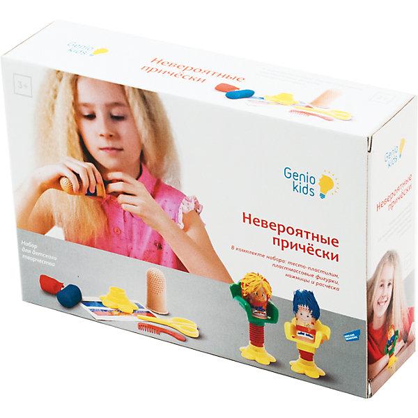 Набор для детской лепки Невероятные прическиНаборы для лепки<br>Набор поможет ребенку стать настоящим парикмахером-стилистом. С помощью специальных ножниц и расчески малыш сделает прическу любой формы и длины. Тесто даст ему возможность экспери-ментировать не только с формой, но и с цветом. В состав набора входят: Основание (подставка) -1шт., винтовой пресс -1 шт., кресло -1шт., фигурка -1шт., ножницы пластмассовые -1шт., расческа -1шт., комплект наклеек -1 лист, баночки с тестом по 50мл -3 шт., инструкция -1 шт.<br><br>Ширина мм: 250<br>Глубина мм: 170<br>Высота мм: 60<br>Вес г: 380<br>Возраст от месяцев: 36<br>Возраст до месяцев: 108<br>Пол: Женский<br>Возраст: Детский<br>SKU: 5018321