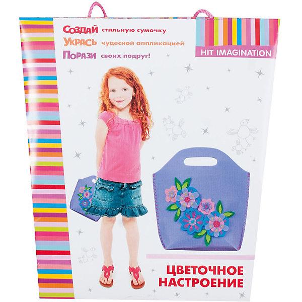 Набор для детского творчества Цветочное настроениеШитьё<br>Набор для создания сумочки из фетра. 3 варианта цвета: фиолетовый, розовый, зеленый. В комплекте: выкройки из фетра с отверстиями для швов, безопасная игла, нитки, инструкция.<br><br>Ширина мм: 75<br>Глубина мм: 230<br>Высота мм: 250<br>Вес г: 95<br>Возраст от месяцев: 36<br>Возраст до месяцев: 108<br>Пол: Женский<br>Возраст: Детский<br>SKU: 5018336