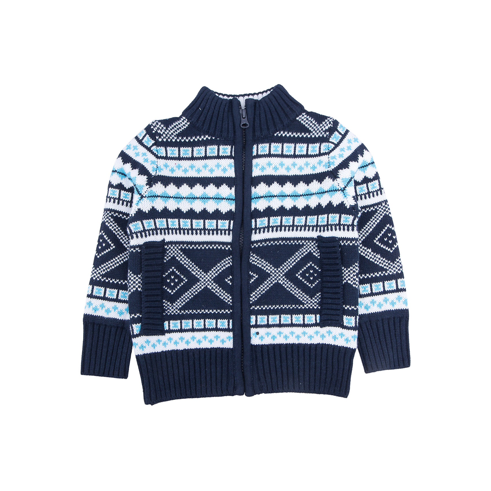 Жакет для мальчика SELAЖакет для мальчика SELA<br><br>Характеристики:<br><br>• Цвет синий.<br>• Рукав длинный.<br>• Силуэт прямой.<br>• Состав:57% хлопок, 28% акрил,15%полиэстер.<br><br><br>Жакет для мальчика от признанного лидера по созданию коллекций одежды в стиле casual - SELA. Мягкий, уютный жакет из вязаного трикотажа синего цвета украшен геометрическим узором бело-голубого цвета. Воротник и манжеты выполнены из мягкой вязаной резинки. Застегивается жакет на застежку молнию. Натуральный хлопок в составе изделия делает его дышащим, приятным на ощупь и гипоаллергенным. В таком жакете ваш мальчик будет чувствовать себя комфортно и уютно!<br><br>Жакет для мальчика SELA, можно купить в нашем интернет - магазине.<br><br>Ширина мм: 190<br>Глубина мм: 74<br>Высота мм: 229<br>Вес г: 236<br>Цвет: синий<br>Возраст от месяцев: 18<br>Возраст до месяцев: 24<br>Пол: Мужской<br>Возраст: Детский<br>Размер: 92,116,110,104,98<br>SKU: 5020109