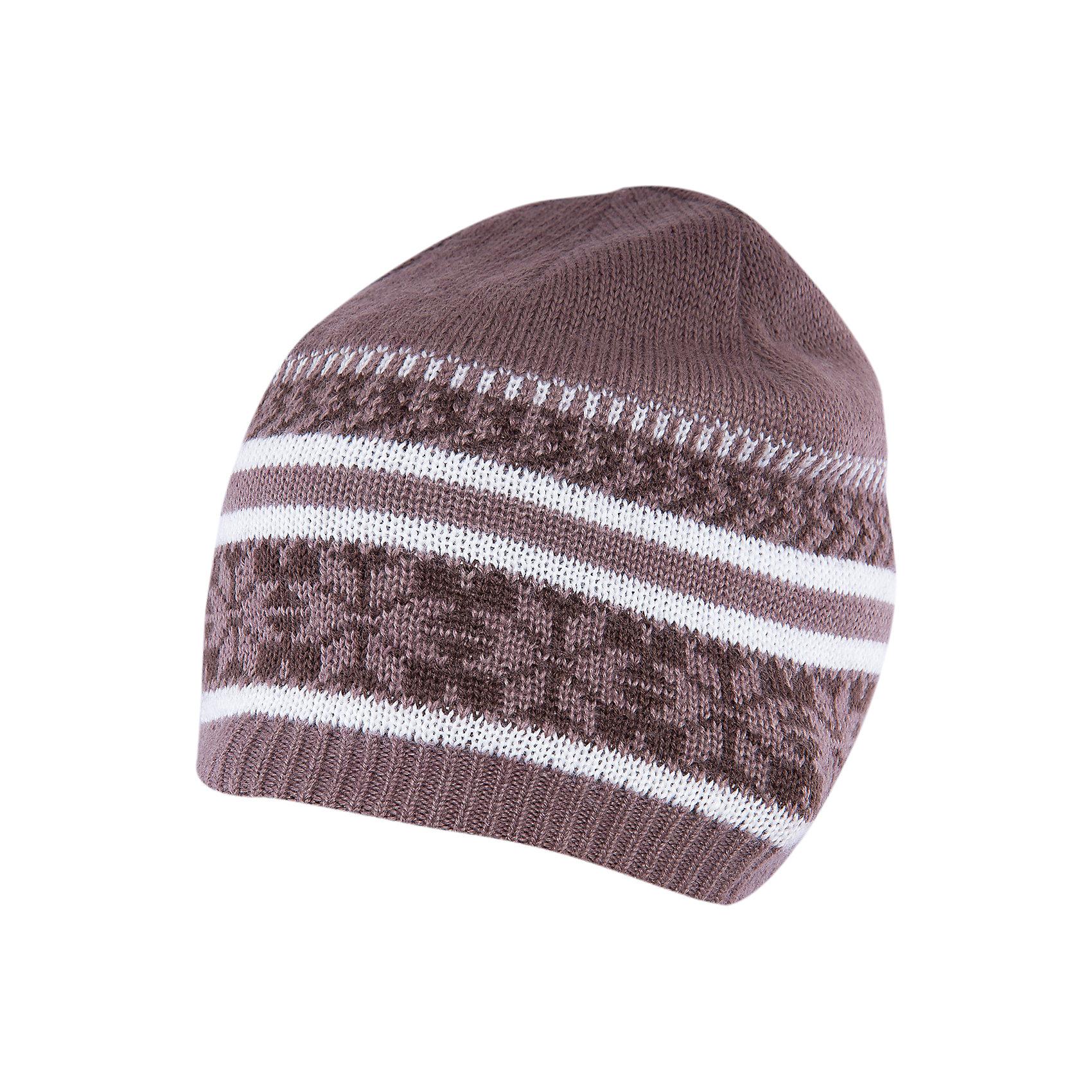 Шапка для мальчика SELAСимпатичная удобная шапка - незаменимая вещь в прохладное время года. Эта модель отлично сидит на ребенке, она сделана из плотного материала, позволяет гулять с комфортом на свежем воздухе зимой. Качественная пряжа не вызывает аллергии и обеспечивает ребенку комфорт. Модель будет уместна в различных сочетаниях.<br>Одежда от бренда Sela (Села) - это качество по приемлемым ценам. Многие российские родители уже оценили преимущества продукции этой компании и всё чаще приобретают одежду и аксессуары Sela.<br><br>Дополнительная информация:<br><br>цвет: разноцветный;<br>материал: верх - 70% акрил, 30% шерсть; подкладка - 100% полиэстер;<br>вязаный узор.<br><br>Шапку для мальчика от бренда Sela можно купить в нашем интернет-магазине.<br><br>Ширина мм: 89<br>Глубина мм: 117<br>Высота мм: 44<br>Вес г: 155<br>Цвет: серый<br>Возраст от месяцев: 84<br>Возраст до месяцев: 120<br>Пол: Мужской<br>Возраст: Детский<br>Размер: 54-56<br>SKU: 5020161