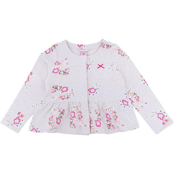 Жакет для девочки SELAВерхняя одежда<br>Жакет для девочки SELA<br><br>Характеристики:<br><br>• Цвет бежевый.<br>• Рукав длинный.<br>• Силуэт прямой.<br>• Состав: 95% хлопок, 5% эластан.<br><br><br>Симпатичный жакет для девочки от признанного лидера по созданию коллекций одежды в стиле casual - SELA. Стильный жакет из хлопкового трикотажа бежевого цвета украшен стильным цветочным принтом . Натуральный хлопок в составе изделия делает его дышащим, приятным на ощупь и гипоаллергенным. С таким жакетом можно создать много разных ансамблей - одинаково хорошо будет смотреться и нарядная юбочка и классические джинсы.<br><br>Жакет для девочки SELA, можно купить в нашем интернет - магазине.<br>Ширина мм: 190; Глубина мм: 74; Высота мм: 229; Вес г: 236; Цвет: бежевый; Возраст от месяцев: 24; Возраст до месяцев: 36; Пол: Женский; Возраст: Детский; Размер: 98,116,110,104; SKU: 5020192;