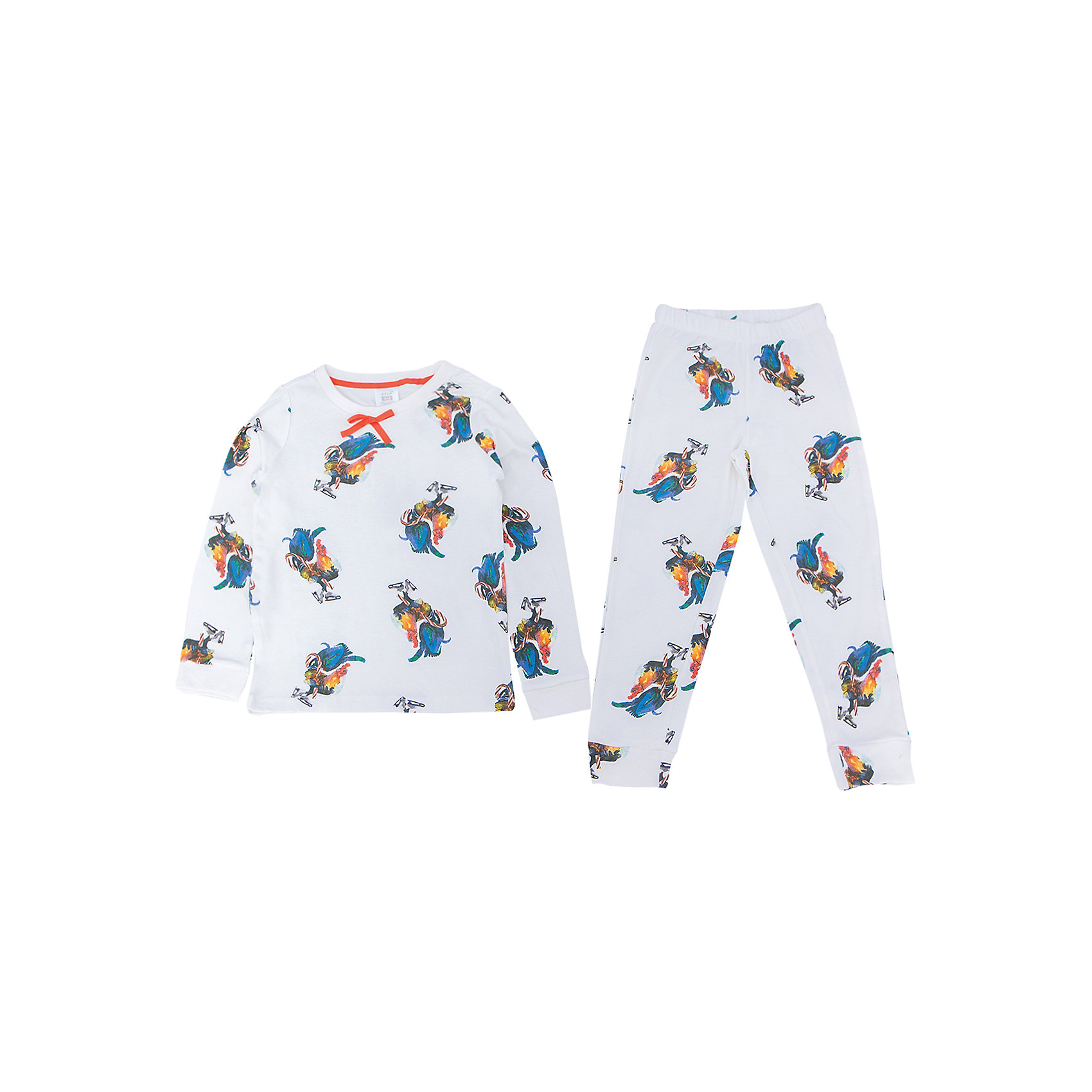Пижама для девочки SELAПижамы и сорочки<br>Удобная пижама - неотъемлемая составляющая комфортного сна ребенка. Эта модель отлично сидит на девочке, она сшита из приятного на ощупь материала, мягкая и дышащая. Натуральный хлопок в составе ткани не вызывает аллергии и обеспечивает ребенку комфорт. В наборе - футболка с длинным рукавом и штаны, вещи украшены симпатичным принтом.<br>Одежда от бренда Sela (Села) - это качество по приемлемым ценам. Многие российские родители уже оценили преимущества продукции этой компании и всё чаще приобретают одежду и аксессуары Sela.<br><br>Дополнительная информация:<br><br>цвет: молочый;<br>материал: 100% хлопок;<br>принт;<br>трикотаж.<br><br>Пижаму для девочки от бренда Sela можно купить в нашем интернет-магазине.<br><br>Ширина мм: 281<br>Глубина мм: 70<br>Высота мм: 188<br>Вес г: 295<br>Цвет: белый<br>Возраст от месяцев: 24<br>Возраст до месяцев: 36<br>Пол: Женский<br>Возраст: Детский<br>Размер: 92/98,104/110,116/122,128/134,140/146<br>SKU: 5020256