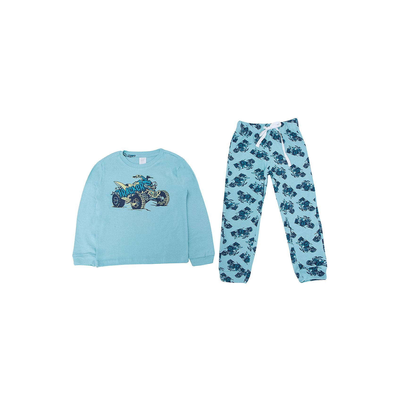 Пижама для мальчика SELAУдобная пижама - неотъемлемая составляющая комфортного сна ребенка. Эта модель отлично сидит на мальчике, она сшита из приятного на ощупь материала, мягкая и дышащая. Натуральный хлопок в составе ткани не вызывает аллергии и обеспечивает ребенку комфорт. В наборе - футболка с длинным рукавом и штаны, вещи украшены симпатичным принтом.<br>Одежда от бренда Sela (Села) - это качество по приемлемым ценам. Многие российские родители уже оценили преимущества продукции этой компании и всё чаще приобретают одежду и аксессуары Sela.<br><br>Дополнительная информация:<br><br>цвет: разноцветный;<br>материал: 100% хлопок;<br>принт;<br>трикотаж.<br><br>Пижаму для мальчика от бренда Sela можно купить в нашем интернет-магазине.<br><br>Ширина мм: 281<br>Глубина мм: 70<br>Высота мм: 188<br>Вес г: 295<br>Цвет: зеленый<br>Возраст от месяцев: 120<br>Возраст до месяцев: 132<br>Пол: Мужской<br>Возраст: Детский<br>Размер: 140/146,128/134,116/122,104/110,92/98<br>SKU: 5020262