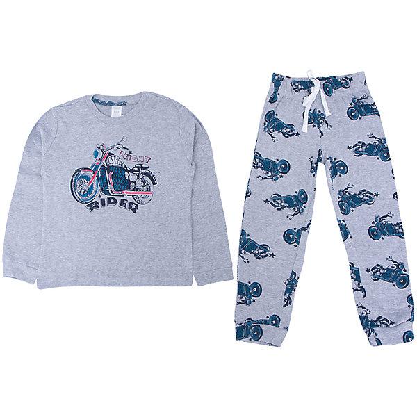 Пижама для мальчика SELAПижамы и сорочки<br>Удобная пижама - неотъемлемая составляющая комфортного сна ребенка. Эта модель отлично сидит на девочке, она сшита из приятного на ощупь материала, мягкая и дышащая. Натуральный хлопок в составе ткани не вызывает аллергии и обеспечивает ребенку комфорт. В наборе - футболка с длинным рукавом и штаны, вещи украшены симпатичным принтом.<br>Одежда от бренда Sela (Села) - это качество по приемлемым ценам. Многие российские родители уже оценили преимущества продукции этой компании и всё чаще приобретают одежду и аксессуары Sela.<br><br>Дополнительная информация:<br><br>цвет: разноцветный;<br>материал: 100% хлопок;<br>принт;<br>трикотаж.<br><br>Пижаму для мальчика от бренда Sela можно купить в нашем интернет-магазине.<br>Ширина мм: 281; Глубина мм: 70; Высота мм: 188; Вес г: 295; Цвет: серый; Возраст от месяцев: 24; Возраст до месяцев: 36; Пол: Мужской; Возраст: Детский; Размер: 92/98,128/134,116/122,104/110,140/146; SKU: 5020268;