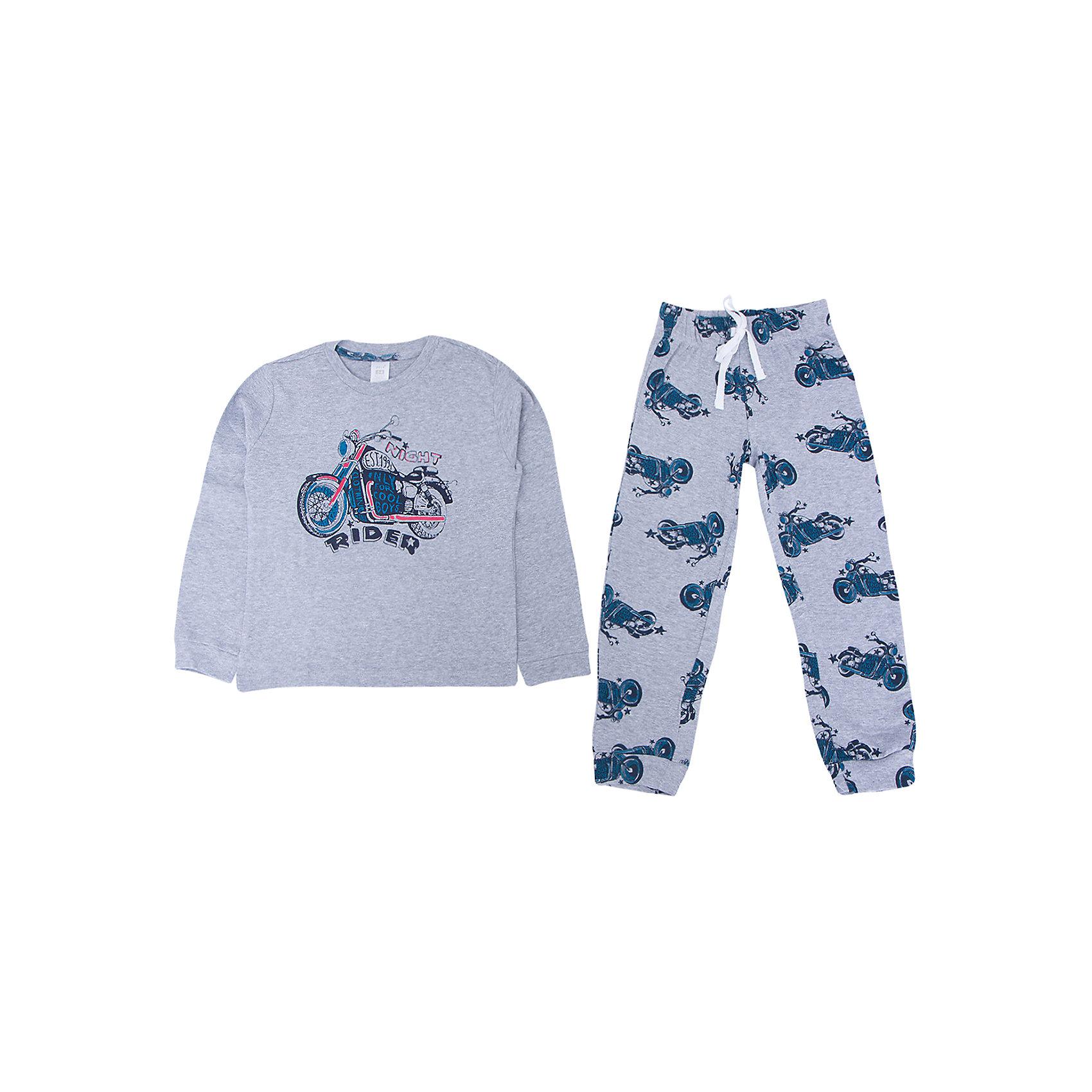 Пижама для мальчика SELAУдобная пижама - неотъемлемая составляющая комфортного сна ребенка. Эта модель отлично сидит на девочке, она сшита из приятного на ощупь материала, мягкая и дышащая. Натуральный хлопок в составе ткани не вызывает аллергии и обеспечивает ребенку комфорт. В наборе - футболка с длинным рукавом и штаны, вещи украшены симпатичным принтом.<br>Одежда от бренда Sela (Села) - это качество по приемлемым ценам. Многие российские родители уже оценили преимущества продукции этой компании и всё чаще приобретают одежду и аксессуары Sela.<br><br>Дополнительная информация:<br><br>цвет: разноцветный;<br>материал: 100% хлопок;<br>принт;<br>трикотаж.<br><br>Пижаму для мальчика от бренда Sela можно купить в нашем интернет-магазине.<br><br>Ширина мм: 281<br>Глубина мм: 70<br>Высота мм: 188<br>Вес г: 295<br>Цвет: серый<br>Возраст от месяцев: 120<br>Возраст до месяцев: 132<br>Пол: Мужской<br>Возраст: Детский<br>Размер: 140/146,92/98,128/134,116/122,104/110<br>SKU: 5020268
