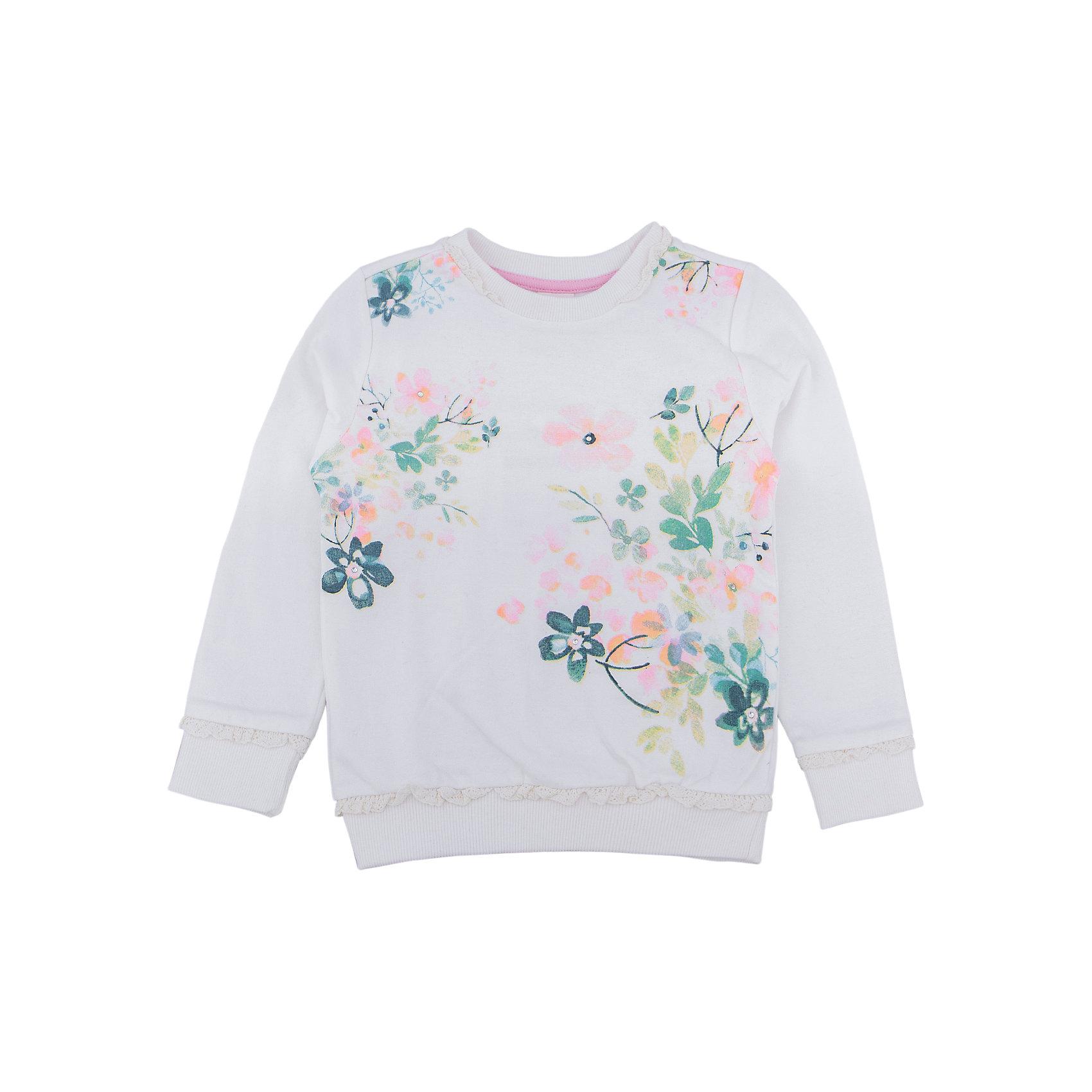 Толстовка для девочки SELAТолстовки<br>Толстовка для девочки SELA<br><br>Характеристики:<br><br>• Цвет молочный.<br>• Рукав длинный.<br>• Силуэт прямой.<br>• Состав:65% хлопок, 35% полиэстер.<br><br><br>Симпатичный джемпер для девочки от признанного лидера по созданию коллекций одежды в стиле casual - SELA. Красивый джемпер из хлопкового трикотажа молочного цвета украшен стильным цветочным принтом . Натуральный хлопок в составе изделия делает его дышащим, приятным на ощупь и гипоаллергенным. С таким джемпером можно создать много разных ансамблей - одинаково хорошо будет смотреться и нарядная юбочка и классические джинсы.<br><br>Джемпер для девочки SELA, можно купить в нашем интернет - магазине.<br><br>Ширина мм: 190<br>Глубина мм: 74<br>Высота мм: 229<br>Вес г: 236<br>Цвет: белый<br>Возраст от месяцев: 60<br>Возраст до месяцев: 72<br>Пол: Женский<br>Возраст: Детский<br>Размер: 116,92,98,104,110<br>SKU: 5020293