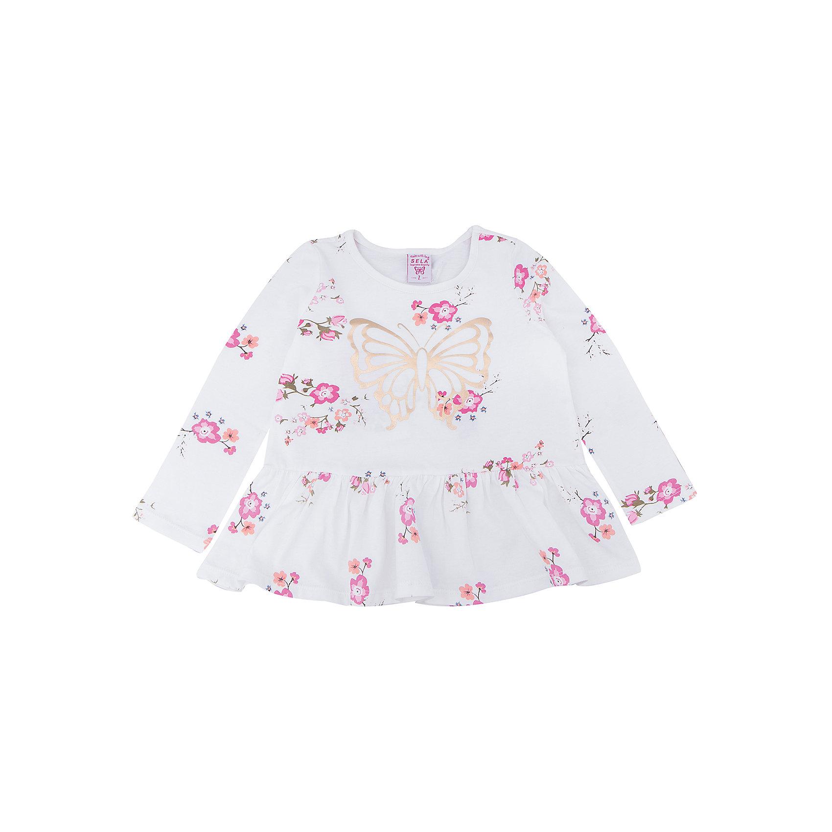 Платье для девочки SELAПлатье с принтом - очень модная вещь. Эта модель отлично сидит на ребенке, она смотрится стильно и нарядно. Приятная на ощупь ткань и качественная фурнитура обеспечивает ребенку комфорт. Модель станет отличной базовой вещью, которая будет уместна в различных сочетаниях.<br>Одежда от бренда Sela (Села) - это качество по приемлемым ценам. Многие российские родители уже оценили преимущества продукции этой компании и всё чаще приобретают одежду и аксессуары Sela.<br><br>Дополнительная информация:<br><br>цвет: молочный;<br>материал: 100% хлопок;<br>с принтом;<br>длинный рукав.<br><br>Платье для девочки от бренда Sela можно купить в нашем интернет-магазине.<br><br>Ширина мм: 236<br>Глубина мм: 16<br>Высота мм: 184<br>Вес г: 177<br>Цвет: белый<br>Возраст от месяцев: 60<br>Возраст до месяцев: 72<br>Пол: Женский<br>Возраст: Детский<br>Размер: 116,92,98,104,110<br>SKU: 5020389