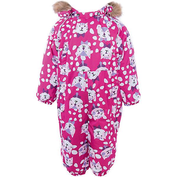Комбинезон Huppa Keira для девочкиВерхняя одежда<br>Характеристики товара:<br><br>• модель: Keira;<br>• цвет: розовый принт;<br>• состав: 100% полиэстер;<br>• подкладка: 100% хлопок, фланель;<br>• утеплитель: Huppa Therm, 300 гр.;<br>• сезон: зима;<br>• температурный режим: от -5 до - 30С;<br>• водонепроницаемость: 10000 мм;;<br>• воздухопроницаемость: 10000 г/м2/24ч;<br>• водо- и ветронепроницаемый, дышащий и грязеотталкивающий материал;<br>• особенности модели: c рисунком, с мехом на капюшоне;<br>• капюшон для большего удобства крепится на кнопки и, при необходимости, отстегивается;<br>• искусственный мех на капюшоне не съемный;<br>• сидельный шов проклеен водостойкой лентой, для дополнительной защиты от протекания;<br>• светоотражающих элементов для безопасности ребенка;<br>• две боковые молнии;<br>• эластичные манжеты на резинках, с отворотом (у размеров 68-80);<br>• манжеты брюк на резинке;<br>• съемные силиконовые штрипки;<br>• у брючин отсутствуют внутренние швы;<br>• страна бренда: Эстония;<br>• страна изготовитель: Эстония.<br><br>Комбинезон Keira зимний - отличный вариант для холодной зимы. Важный критерий при выборе комбинезона для ребенка - это количество утеплителя, ведь дети еще малоподвижны, поэтому комбинезон должен быть теплым.<br><br>В модели Keira 300 грамм утеплителя, которые обеспечат тепло и комфорт ребенку при температуре от -5 до -30 градусов. Подкладка — из 100% хлопка ( фланель).<br><br>Функциональные элементы: капюшон отстегивается с помощью кнопок, мех пришит, манжеты на резинке, с отворотом у размеров 68-80. Сидельный шов проклеен водостойкой лентой, для дополнительной защиты от протекания, две длинные молнии для удобного надевания, манжеты брюк на резинке, у брючин отсутствуют внутренние швы, съемные силиконовые штрипки, светоотражающие элементы.<br><br>Комбинезон Keira от бренда Huppa (Хуппа) можно купить в нашем интернет-магазине.<br>Ширина мм: 356; Глубина мм: 10; Высота мм: 245; Вес г: 519; Цвет: лиловый; Возраст от месяцев: 3; Возр