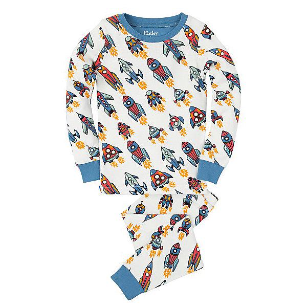 Пижама для мальчика HatleyПижамы и сорочки<br>Пижама для мальчика Hatley<br><br>Характеристики:<br><br>• Цвет: белый, синий<br>• Материал: 100% хлопок<br><br>Милая и яркая пижама для мальчика сделана из качественного материала, который не вызывает аллергию. Манжеты внизу на штанишках и на рукавах делают пижаму еще теплее, ведь они не позволяют пижамке «задраться» во время сна. Маленькие ракеты, изображенные на пижаме, не смогут оставить равнодушным ни одного мальчишку.<br><br>Пижама для мальчика Hatley можно купить в нашем интернет-магазине.<br><br>Ширина мм: 281<br>Глубина мм: 70<br>Высота мм: 188<br>Вес г: 295<br>Цвет: белый<br>Возраст от месяцев: 18<br>Возраст до месяцев: 24<br>Пол: Мужской<br>Возраст: Детский<br>Размер: 92,98,116,110,122,104<br>SKU: 5020604