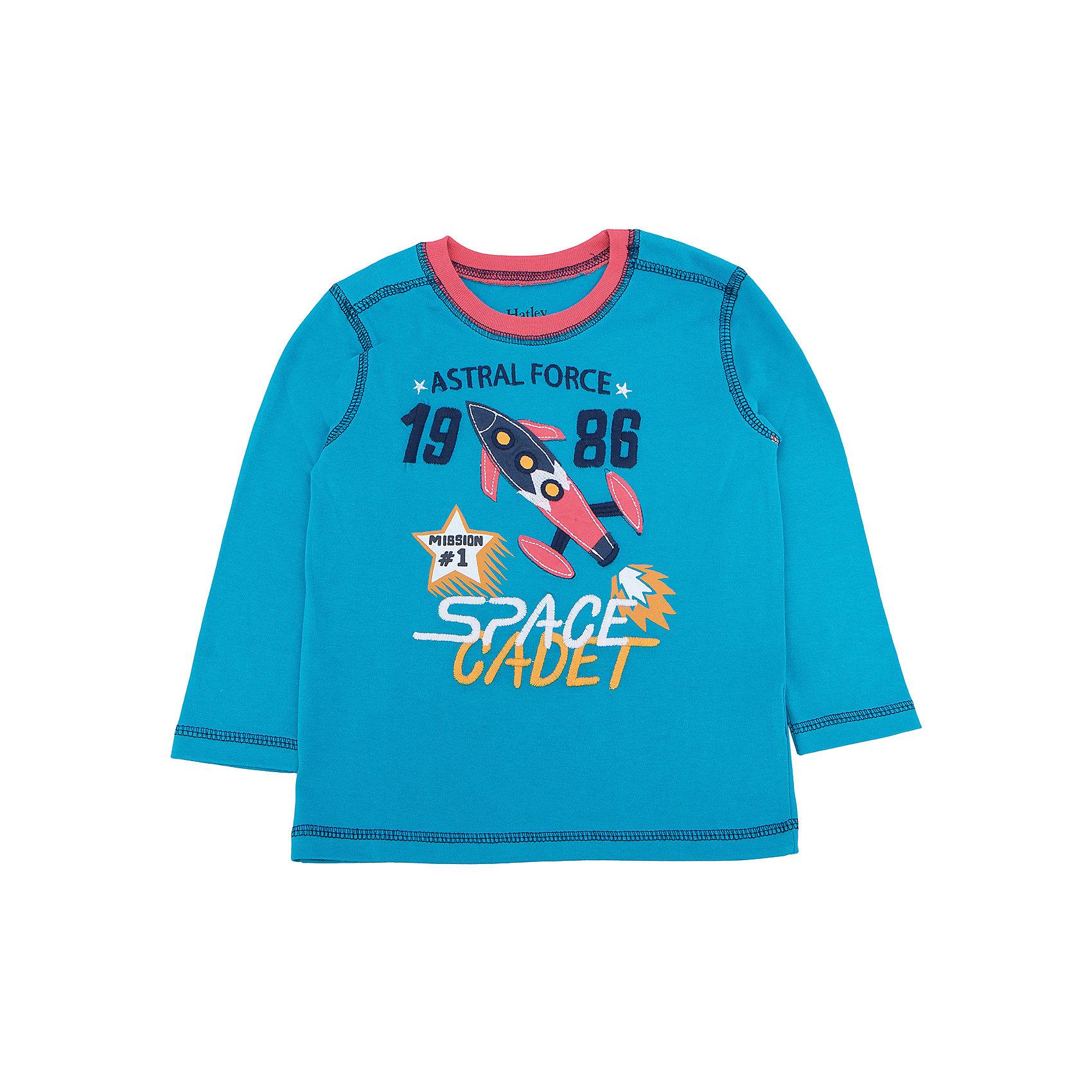 Футболка с длинным рукавом для мальчика HatleyФутболки с длинным рукавом<br>Футболка с длинным рукавом для мальчика Hatley<br><br>Характеристики:<br><br>• Состав: 100% хлопок<br>• Цвет: голубой<br><br>Красивая и модная футболка с длинными рукавами идеально подойдет для летней прохладной погоды или для носки в помещении. Благодаря тому, что ткань натуральная и не вызывает аллергии, ребенок сможет бегать и прыгать, не боясь, что вспотеет и на коже будут раздражения. Яркий и забавный принт-аппликация с ракетой делает футболку еще и очень привлекательной. Прострочка рукава, на плечах и внизу кофты делает дизайн футболки неповторимым.<br><br>Футболку с длинным рукавом для мальчика Hatley можно купить в нашем интернет-магазине.<br><br>Ширина мм: 230<br>Глубина мм: 40<br>Высота мм: 220<br>Вес г: 250<br>Цвет: голубой<br>Возраст от месяцев: 36<br>Возраст до месяцев: 48<br>Пол: Мужской<br>Возраст: Детский<br>Размер: 104,92,110,98<br>SKU: 5020640