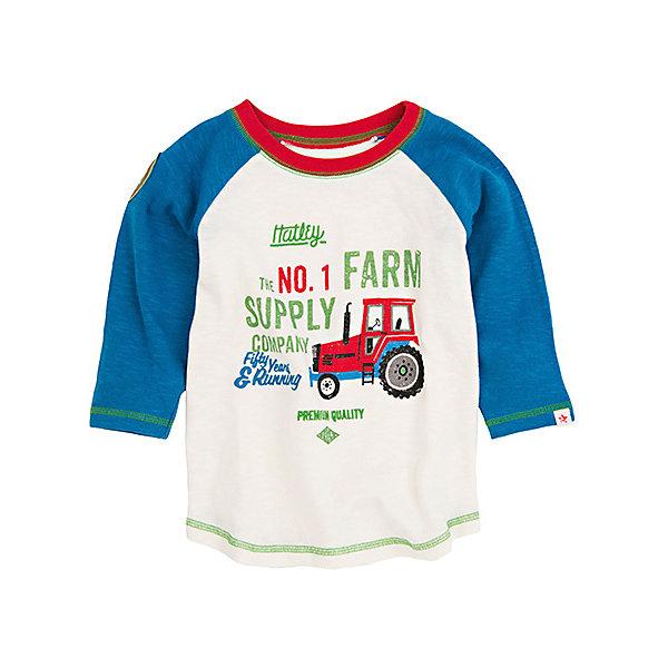 Футболка с длинным рукавом для мальчика HatleyФутболки с длинным рукавом<br>Футболка с длинным рукавом для мальчика Hatley<br><br>Характеристики:<br><br>• Состав: 100% хлопок<br>• Цвет: белый, синий<br><br>Красивая и модная футболка с длинными рукавами идеально подойдет для летней прохладной погоды или для носки в помещении. Благодаря тому, что ткань натуральная и не вызывает аллергии, ребенок сможет бегать и прыгать, не боясь, что вспотеет и на коже будут раздражения. Яркий и забавный принт-аппликация делает футболку еще и очень привлекательной. Контраст рукавов и кофты, прострочка воротника, рукавов и низа делает дизайн футболки неповторимым.<br><br>Футболку с длинным рукавом для мальчика Hatley можно купить в нашем интернет-магазине.<br>Ширина мм: 230; Глубина мм: 40; Высота мм: 220; Вес г: 250; Цвет: белый; Возраст от месяцев: 18; Возраст до месяцев: 24; Пол: Мужской; Возраст: Детский; Размер: 92,104,98,110; SKU: 5020653;