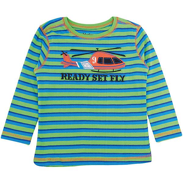 Футболка с длинным рукавом для мальчика HatleyФутболки с длинным рукавом<br>Футболка с длинным рукавом для мальчика Hatley<br><br>Характеристики:<br><br>• Состав: 100% хлопок<br>• Цвет: зеленый, синий<br><br>Красивая и модная футболка с длинными рукавами идеально подойдет для летней прохладной погоды или для носки в помещении. Благодаря тому, что ткань натуральная и не вызывает аллергии, ребенок сможет бегать и прыгать, не боясь, что вспотеет и на коже будут раздражения. Яркий и забавный принт-аппликация с вертолетом делает футболку еще и очень привлекательной. Контраст рукавов и кофты, прострочка воротника, рукавов и низа делает дизайн футболки неповторимым.<br><br>Футболку с длинным рукавом для мальчика Hatley можно купить в нашем интернет-магазине.<br>Ширина мм: 230; Глубина мм: 40; Высота мм: 220; Вес г: 250; Цвет: зеленый; Возраст от месяцев: 24; Возраст до месяцев: 36; Пол: Мужской; Возраст: Детский; Размер: 98,92,104,110; SKU: 5020658;