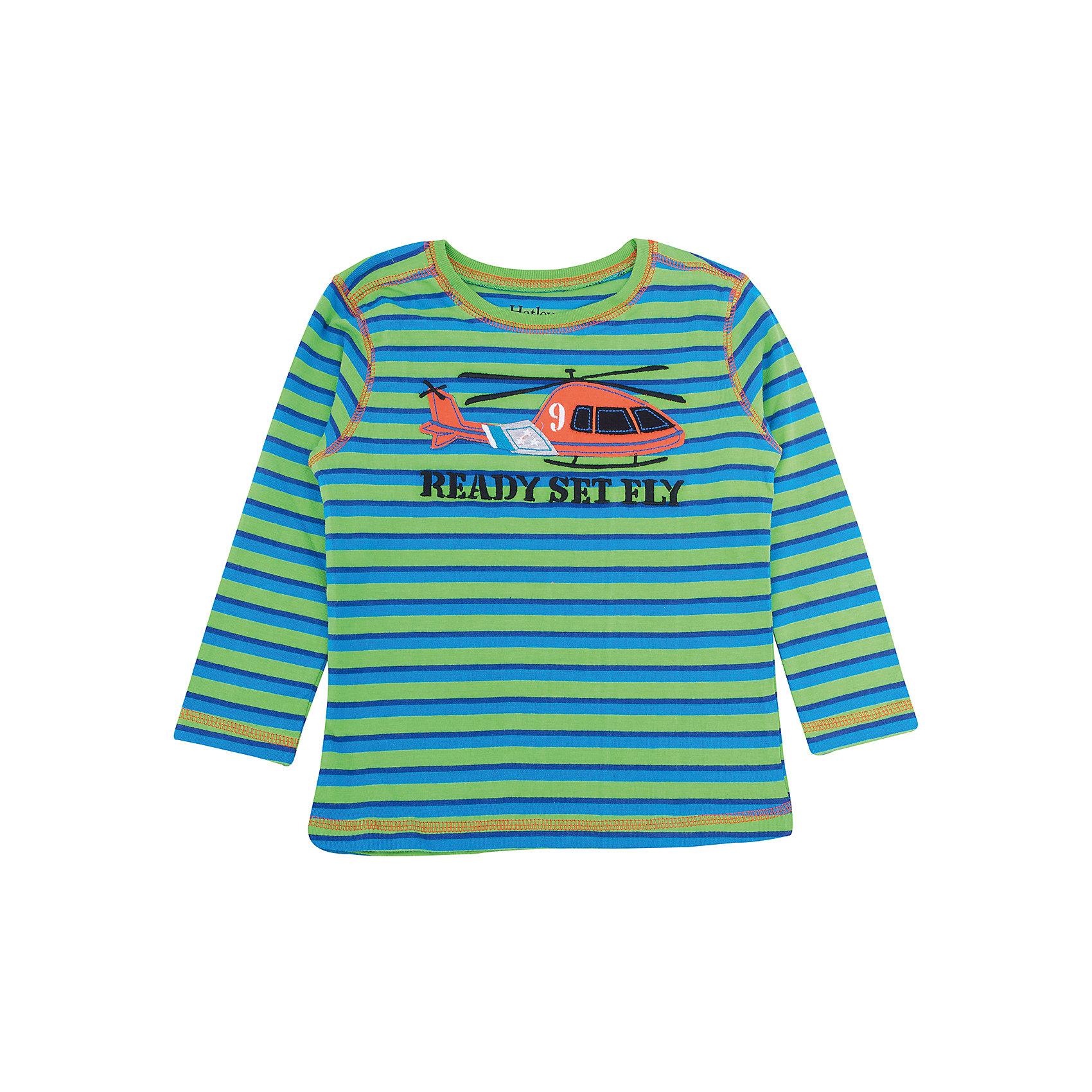 Футболка с длинным рукавом для мальчика HatleyФутболки с длинным рукавом<br>Футболка с длинным рукавом для мальчика Hatley<br><br>Характеристики:<br><br>• Состав: 100% хлопок<br>• Цвет: зеленый, синий<br><br>Красивая и модная футболка с длинными рукавами идеально подойдет для летней прохладной погоды или для носки в помещении. Благодаря тому, что ткань натуральная и не вызывает аллергии, ребенок сможет бегать и прыгать, не боясь, что вспотеет и на коже будут раздражения. Яркий и забавный принт-аппликация с вертолетом делает футболку еще и очень привлекательной. Контраст рукавов и кофты, прострочка воротника, рукавов и низа делает дизайн футболки неповторимым.<br><br>Футболку с длинным рукавом для мальчика Hatley можно купить в нашем интернет-магазине.<br><br>Ширина мм: 230<br>Глубина мм: 40<br>Высота мм: 220<br>Вес г: 250<br>Цвет: зеленый<br>Возраст от месяцев: 36<br>Возраст до месяцев: 48<br>Пол: Мужской<br>Возраст: Детский<br>Размер: 110,98,104,92<br>SKU: 5020658