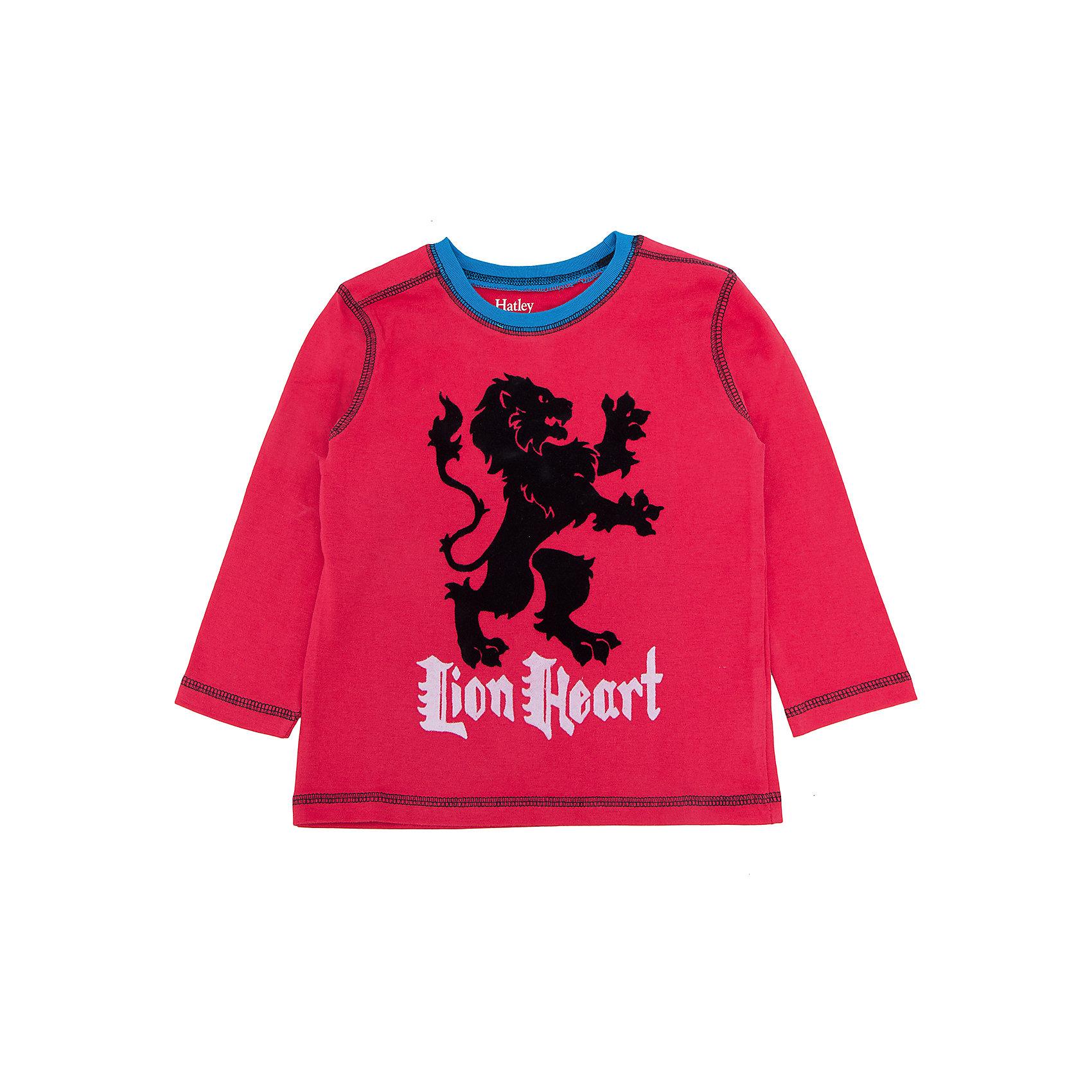 Футболка с длинным рукавом для мальчика HatleyФутболки с длинным рукавом<br>Футболка с длинным рукавом для мальчика Hatley<br><br>Характеристики:<br><br>• Состав: 100% хлопок<br>• Цвет: красный<br><br>Красивая и модная футболка с длинными рукавами идеально подойдет для летней прохладной погоды или для носки в помещении. Благодаря тому, что ткань натуральная и не вызывает аллергии, ребенок сможет бегать и прыгать, не боясь, что вспотеет и на коже будут раздражения. Яркий и забавный принт-аппликация со львом делает футболку еще и очень привлекательной. Контраст рукавов и кофты, прострочка воротника, рукавов и низа делает дизайн футболки неповторимым.<br><br>Футболку с длинным рукавом для мальчика Hatley можно купить в нашем интернет-магазине.<br><br>Ширина мм: 230<br>Глубина мм: 40<br>Высота мм: 220<br>Вес г: 250<br>Цвет: красный<br>Возраст от месяцев: 24<br>Возраст до месяцев: 36<br>Пол: Мужской<br>Возраст: Детский<br>Размер: 98,104,92,122,128,110,116<br>SKU: 5020663