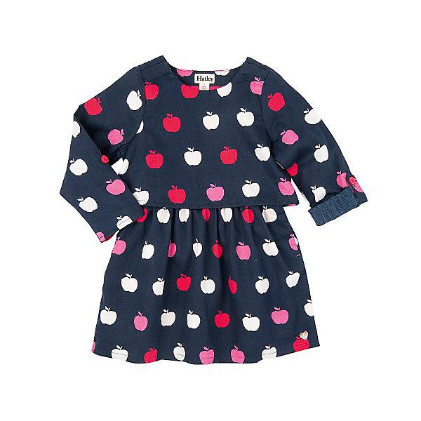 Платье для девочки HatleyПлатья и сарафаны<br>Платье для девочки Hatley<br><br>Характеристики:<br><br>• Состав: 100% хлопок<br>• Цвет: синий<br><br>Очаровательное дизайнерское платье не оставит равнодушным маленькую принцессу. Сделано из 100% хлопка, а значит не принесет дискомфорт ребенку. Рукава можно подворачивать и прикреплять за пуговку. Платье сделано по типу: юбка + пиджак, что делает юную леди взрослой и очень стильной. Милый принт с яблочками идеально сочетается с любой обувью и колготками.<br><br>Платье для девочки Hatley можно купить в нашем интернет-магазине.<br><br>Ширина мм: 236<br>Глубина мм: 16<br>Высота мм: 184<br>Вес г: 177<br>Цвет: темно-синий<br>Возраст от месяцев: 18<br>Возраст до месяцев: 24<br>Пол: Женский<br>Возраст: Детский<br>Размер: 92,104,98,116,110,128,122<br>SKU: 5020697