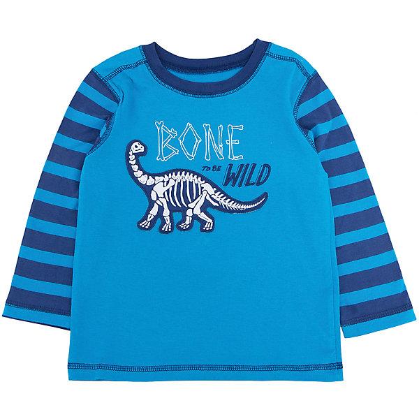 Футболка с длинным рукавом для мальчика HatleyФутболки с длинным рукавом<br>Футболка с длинным рукавом для мальчика Hatley<br><br>Характеристики:<br><br>• Состав: 100% хлопок<br>• Цвет: голубой<br><br>Красивая и модная футболка с длинными рукавами идеально подойдет для летней прохладной погоды или для носки в помещении. Благодаря тому, что ткань натуральная и не вызывает аллергии, ребенок сможет бегать и прыгать, не боясь, что вспотеет и на коже будут раздражения. Яркий и забавный принт-аппликация делает футболку еще и очень привлекательной. Рукава словно вставлены в кофту или под футболкой есть дополнительная водолазка. Такой стиль очень нравится детям. Внизу по бокам кофта немного собрана и украшена бантиками.<br><br>Футболку с длинным рукавом для мальчика Hatley можно купить в нашем интернет-магазине.<br>Ширина мм: 230; Глубина мм: 40; Высота мм: 220; Вес г: 250; Цвет: голубой; Возраст от месяцев: 18; Возраст до месяцев: 24; Пол: Мужской; Возраст: Детский; Размер: 92,116,110,104,98; SKU: 5020710;