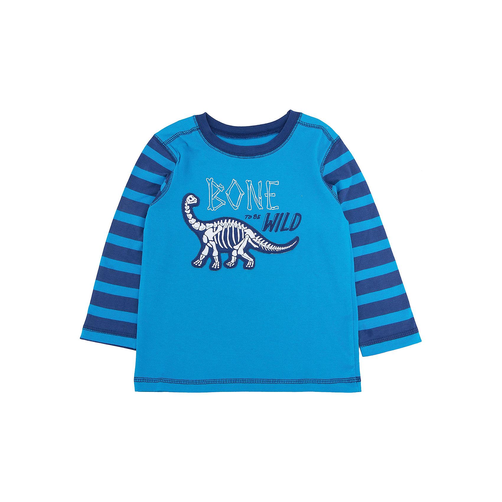 Футболка с длинным рукавом для мальчика HatleyФутболки с длинным рукавом<br>Футболка с длинным рукавом для мальчика Hatley<br><br>Характеристики:<br><br>• Состав: 100% хлопок<br>• Цвет: голубой<br><br>Красивая и модная футболка с длинными рукавами идеально подойдет для летней прохладной погоды или для носки в помещении. Благодаря тому, что ткань натуральная и не вызывает аллергии, ребенок сможет бегать и прыгать, не боясь, что вспотеет и на коже будут раздражения. Яркий и забавный принт-аппликация делает футболку еще и очень привлекательной. Рукава словно вставлены в кофту или под футболкой есть дополнительная водолазка. Такой стиль очень нравится детям. Внизу по бокам кофта немного собрана и украшена бантиками.<br><br>Футболку с длинным рукавом для мальчика Hatley можно купить в нашем интернет-магазине.<br><br>Ширина мм: 230<br>Глубина мм: 40<br>Высота мм: 220<br>Вес г: 250<br>Цвет: голубой<br>Возраст от месяцев: 18<br>Возраст до месяцев: 24<br>Пол: Мужской<br>Возраст: Детский<br>Размер: 92,116,98,104,110<br>SKU: 5020710