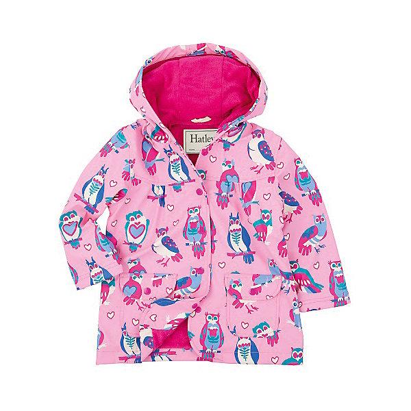 Плащ для девочки HatleyВерхняя одежда<br>Плащ для девочки Hatley<br><br>Характеристики:<br><br>• Состав: верх - 100%полиуретан, подкладка -100% полиэстер<br>• Цвет: розовый<br><br>Красивый и яркий плащ с уникальным дизайном не оставит ребенка равнодушным. У плаща два небольших кармана, удобный капюшон и крючок, чтобы повесить вещь на вешалку. Внутри плаща махровая подкладка, которая придает дополнительное тепло. Застегивается плащ на пуговки, которые может застегнуть ребенок самостоятельно. <br><br>Плащ для девочки Hatley можно купить в нашем интернет-магазине.<br><br>Ширина мм: 356<br>Глубина мм: 10<br>Высота мм: 245<br>Вес г: 519<br>Цвет: розовый<br>Возраст от месяцев: 18<br>Возраст до месяцев: 24<br>Пол: Женский<br>Возраст: Детский<br>Размер: 92,104,116,98,110,128,122<br>SKU: 5020765