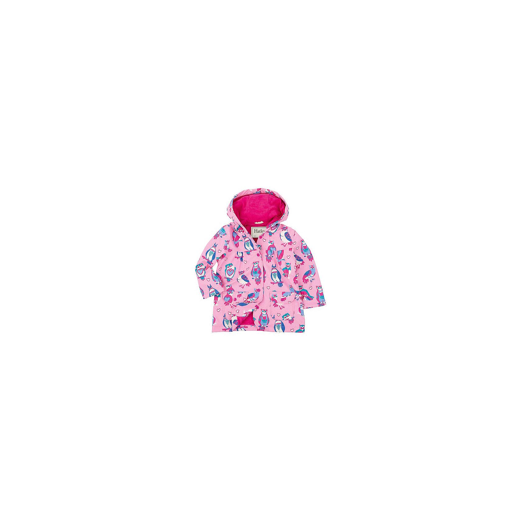 Плащ для девочки HatleyВерхняя одежда<br>Плащ для девочки Hatley<br><br>Характеристики:<br><br>• Состав: верх - 100%полиуретан, подкладка -100% полиэстер<br>• Цвет: розовый<br><br>Красивый и яркий плащ с уникальным дизайном не оставит ребенка равнодушным. У плаща два небольших кармана, удобный капюшон и крючок, чтобы повесить вещь на вешалку. Внутри плаща махровая подкладка, которая придает дополнительное тепло. Застегивается плащ на пуговки, которые может застегнуть ребенок самостоятельно. <br><br>Плащ для девочки Hatley можно купить в нашем интернет-магазине.<br><br>Ширина мм: 356<br>Глубина мм: 10<br>Высота мм: 245<br>Вес г: 519<br>Цвет: розовый<br>Возраст от месяцев: 36<br>Возраст до месяцев: 48<br>Пол: Женский<br>Возраст: Детский<br>Размер: 104,92,122,128,110,98,116<br>SKU: 5020765