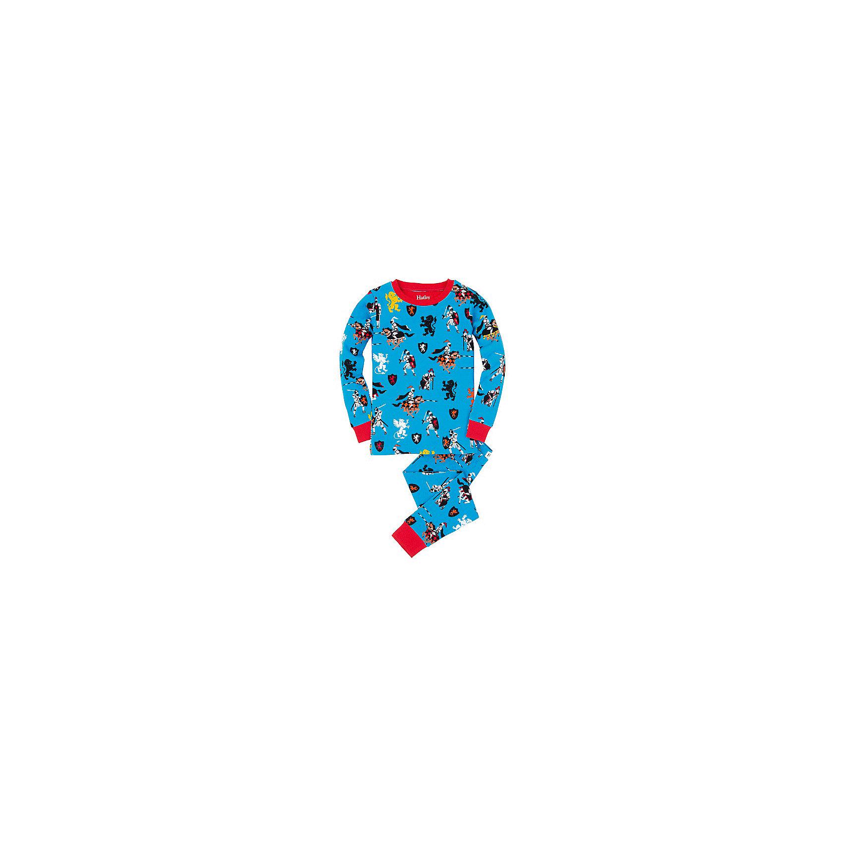 Пижама для мальчика HatleyПижамы и сорочки<br>Пижама для мальчика Hatley<br><br>Характеристики:<br><br>• Цвет: голубой<br>• Материал: 100% хлопок<br><br>Милая и яркая пижама для мальчика сделана из качественного материала, который не вызывает аллергию. Манжеты внизу на штанишках и на рукавах делают пижаму еще теплее, ведь они не позволяют пижамке «задраться» во время сна. Маленькие рыцари, изображенные на пижаме, не смогут оставить равнодушным ни одного мальчишку.<br><br>Пижама для мальчика Hatley можно купить в нашем интернет-магазине.<br><br>Ширина мм: 281<br>Глубина мм: 70<br>Высота мм: 188<br>Вес г: 295<br>Цвет: голубой<br>Возраст от месяцев: 96<br>Возраст до месяцев: 108<br>Пол: Мужской<br>Возраст: Детский<br>Размер: 104,92,122,128,110,116,98<br>SKU: 5020789