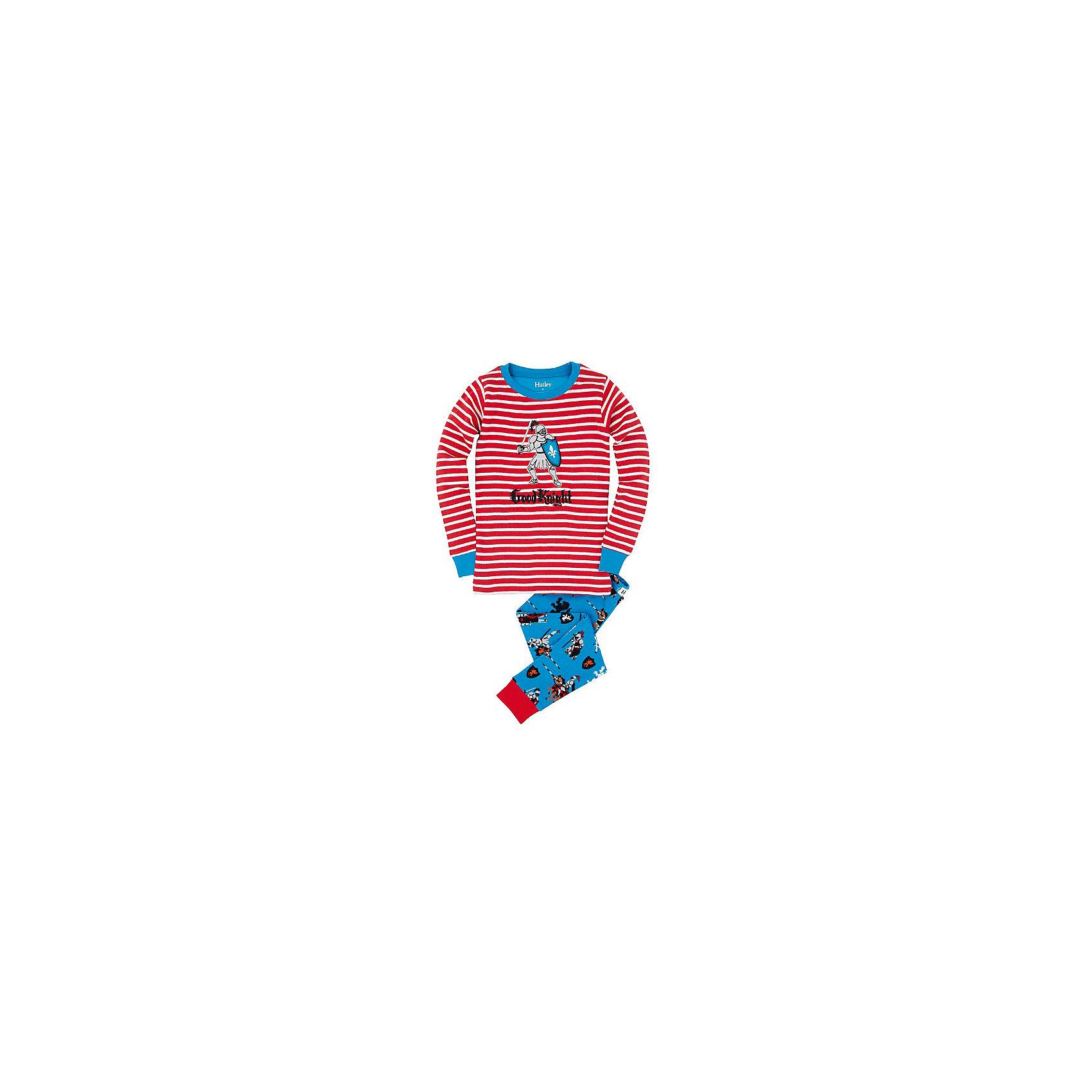 Пижама для мальчика HatleyПижамы и сорочки<br>Пижама для мальчика Hatley<br><br>Характеристики:<br><br>• Цвет: голубой, красный<br>• Материал: 100% хлопок<br><br>Милая и яркая пижама для мальчика сделана из качественного материала, который не вызывает аллергию. Манжеты внизу на штанишках и на рукавах делают пижаму еще теплее, ведь они не позволяют пижамке «задраться» во время сна. Рыцарь, изображенный на пижаме, не сможет оставить равнодушным ни одного мальчишку.<br><br>Пижама для мальчика Hatley можно купить в нашем интернет-магазине.<br><br>Ширина мм: 281<br>Глубина мм: 70<br>Высота мм: 188<br>Вес г: 295<br>Цвет: синий/красный<br>Возраст от месяцев: 18<br>Возраст до месяцев: 24<br>Пол: Мужской<br>Возраст: Детский<br>Размер: 92,104,122,128,110,98,116<br>SKU: 5020812