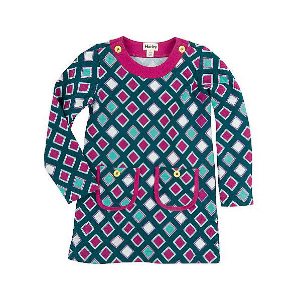 Платье для девочки HatleyПлатья и сарафаны<br>Платье для девочки Hatley<br><br>Характеристики:<br><br>• Состав: 100% хлопок<br>• Цвет: зеленый<br><br>Легкое стильное платье для маленькой модницы. Платье сделано из натурального хлопка, который не только не вреден для кожи, но и не вызывает потливости. Именно поэтому платье отлично подойдет для летней погоды. А благодаря свободному покрою платье можно носить с леггинсами. Воротник платья закрепляется на пуговки. На самом платье два небольших, но вместительных кармана.<br><br>Платье для девочки Hatley можно купить в нашем интернет-магазине.<br>Ширина мм: 236; Глубина мм: 16; Высота мм: 184; Вес г: 177; Цвет: зеленый; Возраст от месяцев: 72; Возраст до месяцев: 84; Пол: Женский; Возраст: Детский; Размер: 122,104,98,116,110,128; SKU: 5020846;