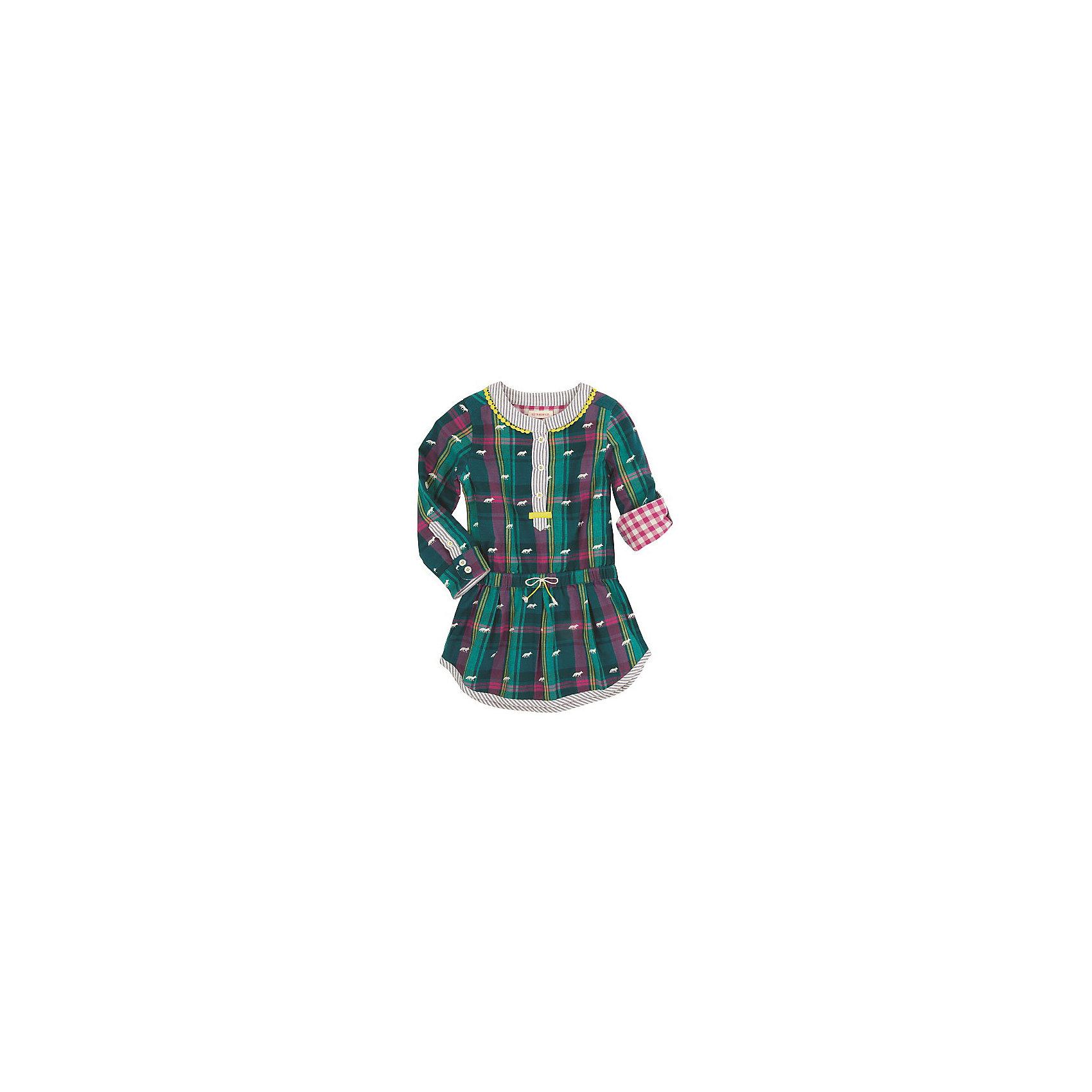 Платье для девочки HatleyПлатье для девочки Hatley<br><br>Характеристики:<br><br>• Состав: 100% хлопок<br>• Цвет: зеленый<br><br>Очаровательное дизайнерское платье не оставит равнодушным маленькую принцессу. Сделано из 100% хлопка, а значит не принесет дискомфорт ребенку. Рукава можно подворачивать и прикреплять за пуговку. Платье сделано по типу: юбка + рубашка на пуговках до середины груди, что делает юную леди взрослой и очень стильной. Милый принт с яблочками идеально сочетается с любой обувью и колготками. Воздушная юбочка украшена маленьким бантиком на резинке.<br><br>Платье для девочки Hatley можно купить в нашем интернет-магазине.<br><br>Ширина мм: 236<br>Глубина мм: 16<br>Высота мм: 184<br>Вес г: 177<br>Цвет: зеленый<br>Возраст от месяцев: 36<br>Возраст до месяцев: 48<br>Пол: Женский<br>Возраст: Детский<br>Размер: 104,128,122,116,110<br>SKU: 5020853