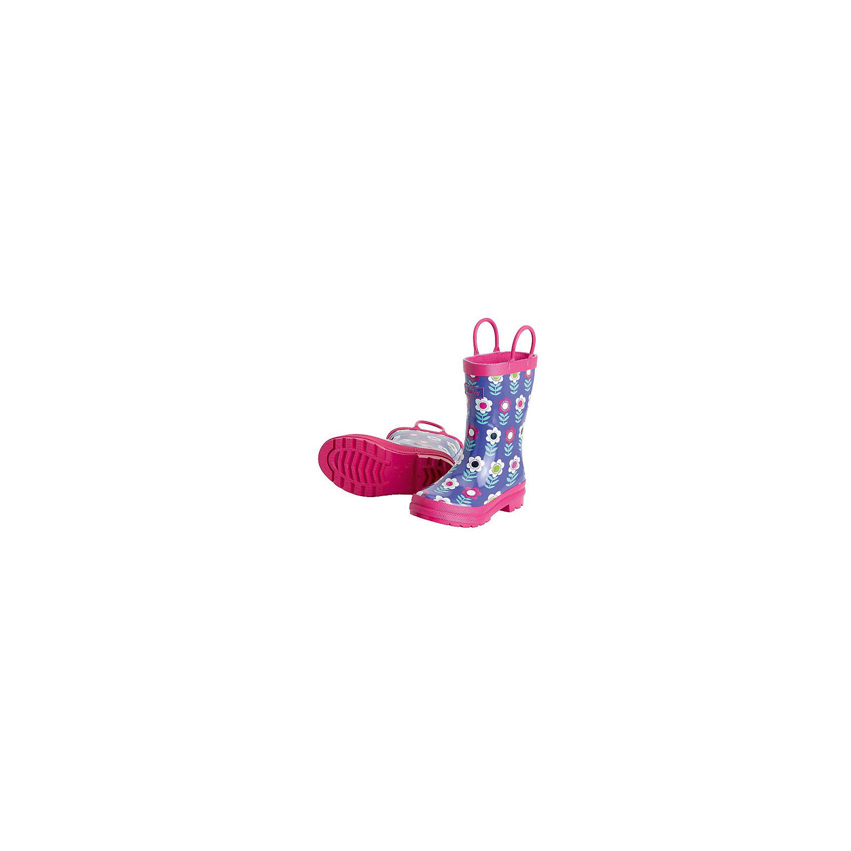Резиновые сапоги для девочки HatleyРезиновые сапоги<br>Сапоги для девочки Hatley<br><br>Характеристики:<br><br>• Состав: верх - каучук синтетический 100%, подкладка - 100% хлопок<br>• Цвет: розовый, фиолетовый<br><br>Яркие, стильные и модные резиновые сапоги для девочки сделаны из высококачественных материалов. Резина сока каучуковых деревьев не даст ножкам промокнуть, а хлопковая подкладка защитит от холода. Внутри есть стелька с аркой, которая способствует правильному формированию стопы. По бокам есть удобные ручки. <br><br>Сапоги для девочки Hatley можно купить в нашем интернет-магазине.<br><br>Ширина мм: 237<br>Глубина мм: 180<br>Высота мм: 152<br>Вес г: 438<br>Цвет: лиловый<br>Возраст от месяцев: 36<br>Возраст до месяцев: 48<br>Пол: Женский<br>Возраст: Детский<br>Размер: 27,22,23,28,30,24,25,30<br>SKU: 5020922