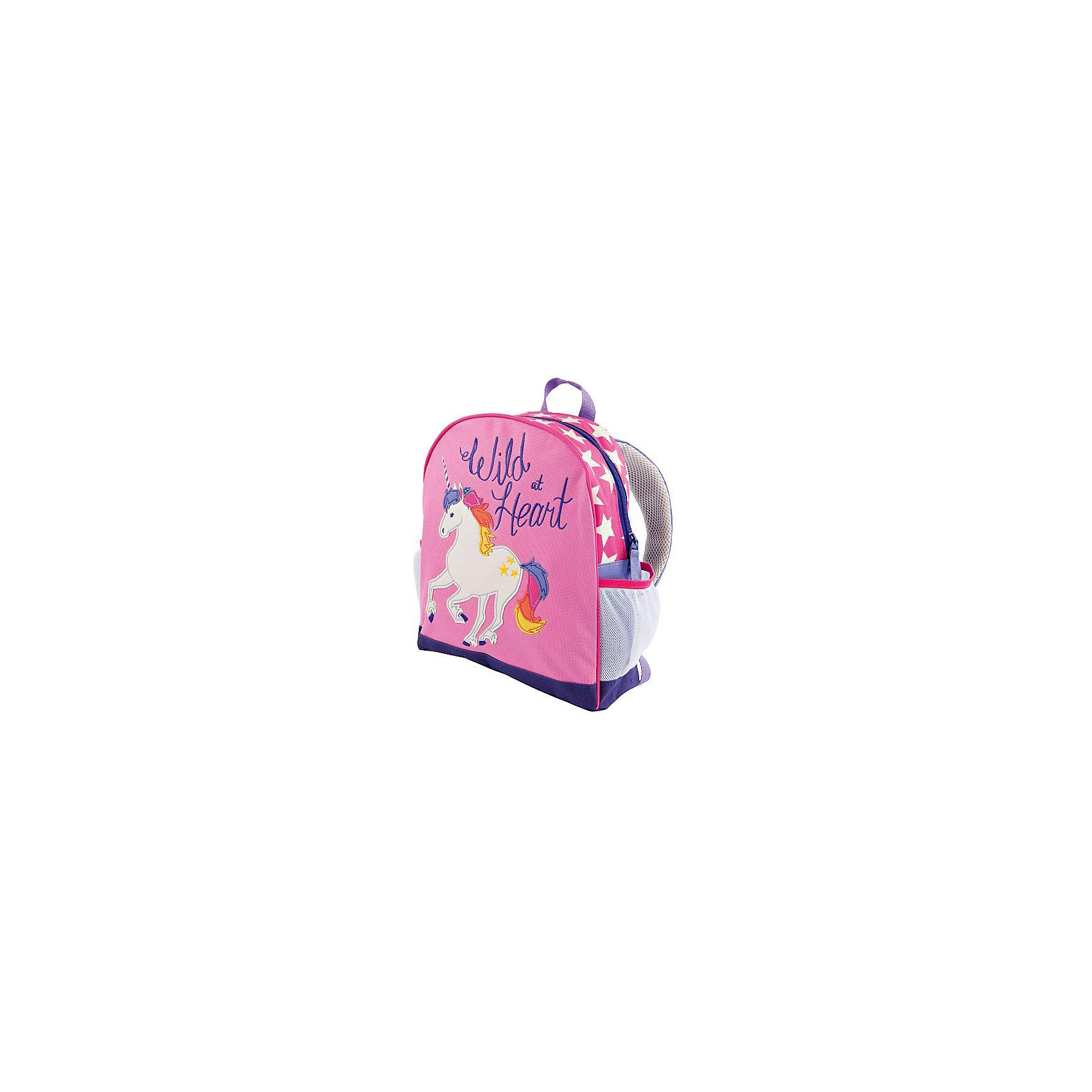 Рюкзак для девочки HatleyРюкзак Hatley<br><br>Характеристики:<br><br>• Состав: 100% полиэстер<br>• Цвет: розовый<br>• Размер (ШхГхВ): 25,5х9х30,5<br><br>Красивый и стильный рюкзак с нашивкой в виде пони не оставит равнодушным ни одну принцессу. Кроме модного дизайна рюкзак очень вместительный. Основное отделение закрывается на молнию с бегунками с двух сторон. Рюкзак очень легкий, поэтому ребенок сможет носить в нем большое количество вещей. Ручки мягкие и регулируются по росту и размеру ребенка. Сбоку есть кармашки для бутылки с водой или других предметов.<br><br>Рюкзак Hatley можно купить в нашем интернет-магазине.<br><br>Ширина мм: 227<br>Глубина мм: 11<br>Высота мм: 226<br>Вес г: 350<br>Цвет: разноцветный<br>Возраст от месяцев: 24<br>Возраст до месяцев: 144<br>Пол: Женский<br>Возраст: Детский<br>Размер: one size<br>SKU: 5020970