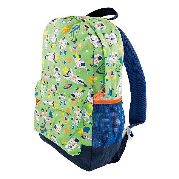 Рюкзак для мальчика HatleyАксессуары<br>Рюкзак Hatley<br><br>Характеристики:<br><br>• Состав: 100% полиэстер<br>• Цвет: салатовый<br>• Размер (ШхГхВ): 25,5х9х30,5<br><br>Красивый и стильный рюкзак не оставит равнодушным никого. Кроме модного дизайна рюкзак очень вместительный. Основное отделение закрывается на молнию с бегунками с двух сторон. Рюкзак очень легкий, поэтому ребенок сможет носить в нем большое количество вещей. Ручки мягкие и регулируются по росту и размеру ребенка. Сбоку есть кармашки для бутылки с водой или других предметов. Впереди есть еще один карман на молнии. <br><br>Рюкзак Hatley можно купить в нашем интернет-магазине.<br>Ширина мм: 227; Глубина мм: 11; Высота мм: 226; Вес г: 350; Цвет: белый; Возраст от месяцев: 24; Возраст до месяцев: 144; Пол: Унисекс; Возраст: Детский; Размер: one size; SKU: 5020972;