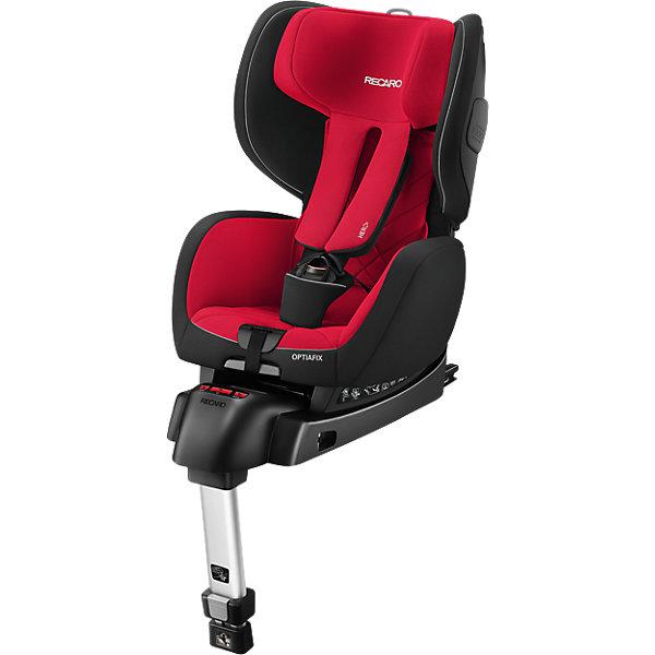 Автокресло RECARO OptiaFix, 9-18 кг, Racing RedГруппа 1 (от 9 до 18 кг)<br>Характеристики автокресла: <br><br>• группа: 1;<br>• вес ребенка: 9-18 кг;<br>• возраст ребенка: от 9 месяцев до 4,5 лет;<br>• способ установки: по ходу движения;<br>• способ крепления: встроенная система Isofix + дополнительный упор, ножка в пол.<br><br>Особенности автокресла:<br><br>• регулируемая высота подголовника, 6 положений;<br>• регулируемый угол наклона автокресла, положение для сна и отдыха;<br>• глубокая посадка;<br>• увеличенные подлокотники;<br>• усиленная боковая защита;<br>• система 3-х точечных ремней безопасности с защитой от скручивания;<br>• цветовые индикаторы показывают правильность установки автокресла;<br>• чехол снимается и стирается при температуре 30 градусов.<br><br>Размеры автокресла: 70х44х68/73 см<br>Вес автокресла: 8,5 кг<br><br>Детское автокресло OptiaFix Recaro обезопасит вашего ребенка во время совместных поездок на автомобиле. Автокресло предназначено для детей от 9 месяцев до 4,5 лет, вес которых находится в пределах 9-18 кг. Автокресло имеет глубокое сиденье, широкие боковинки, упругий подголовник. Регулируемые высота подголовника и наклон спинки обеспечивают ребенку дополнительный комфорт во время поездки, позволяют креслу соответствовать изменениям в росте и комплекции ребенка. <br><br>Автокресло OptiaFix,  9-18 кг, Recaro, Racing Red можно купить в нашем интернет-магазине.<br>Ширина мм: 740; Глубина мм: 730; Высота мм: 460; Вес г: 16860; Цвет: красный; Возраст от месяцев: 9; Возраст до месяцев: 36; Пол: Унисекс; Возраст: Детский; SKU: 5021009;